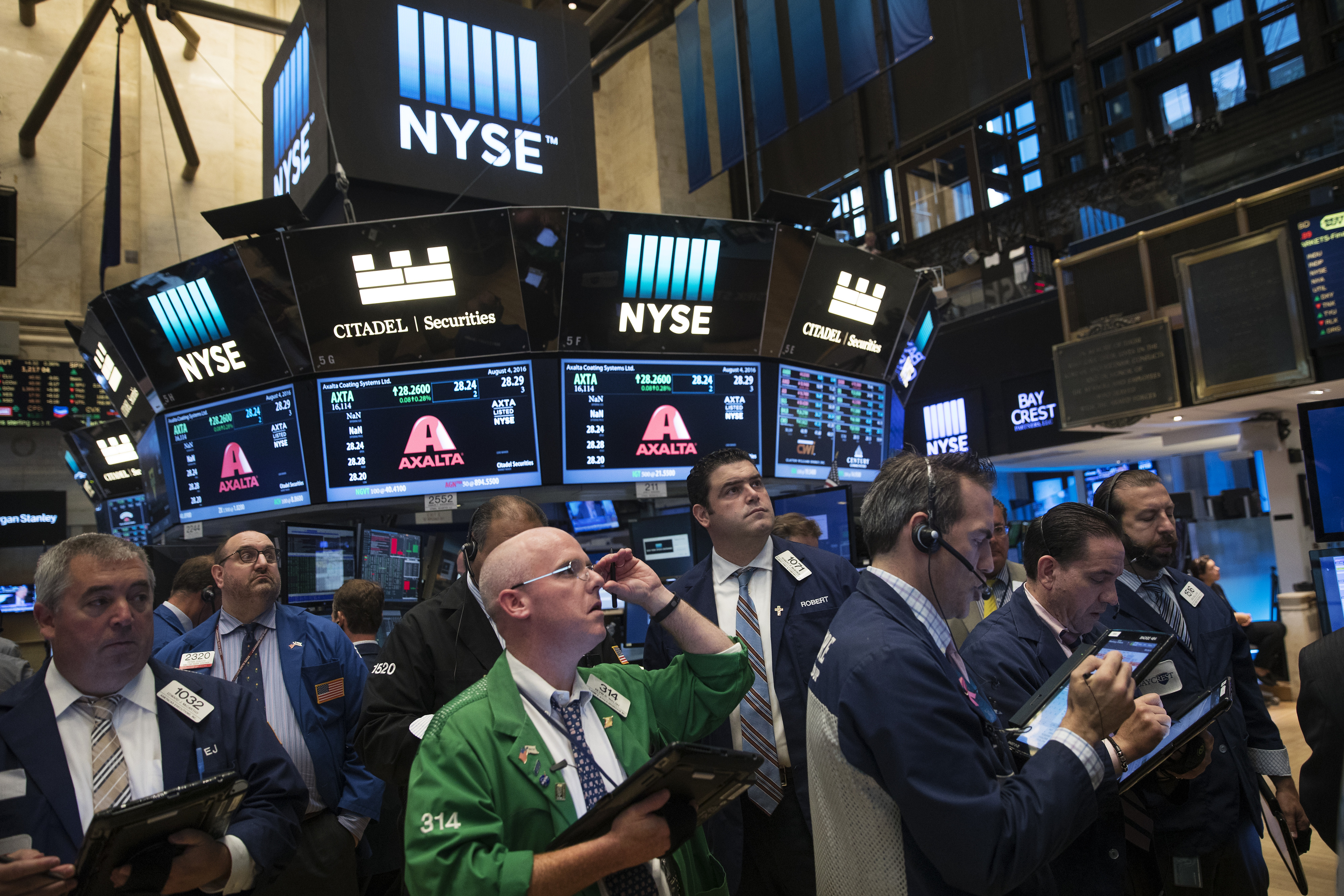 Trading On The Floor Of The NYSE As U.S. Stocks Fluctuate While Investors Turn Focus Toward Jobs Data