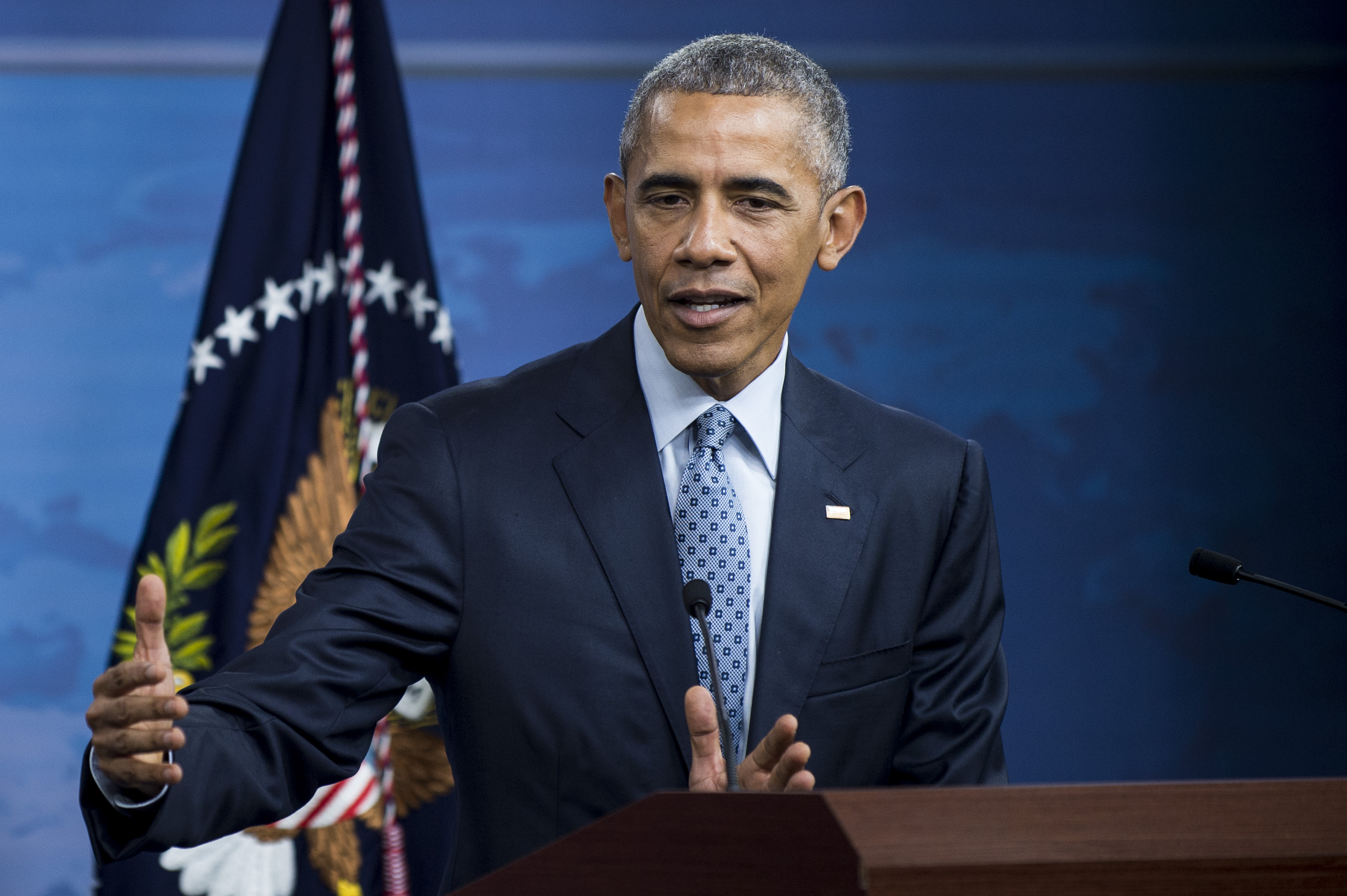 President Obama Holds News Conference At the Pentagon