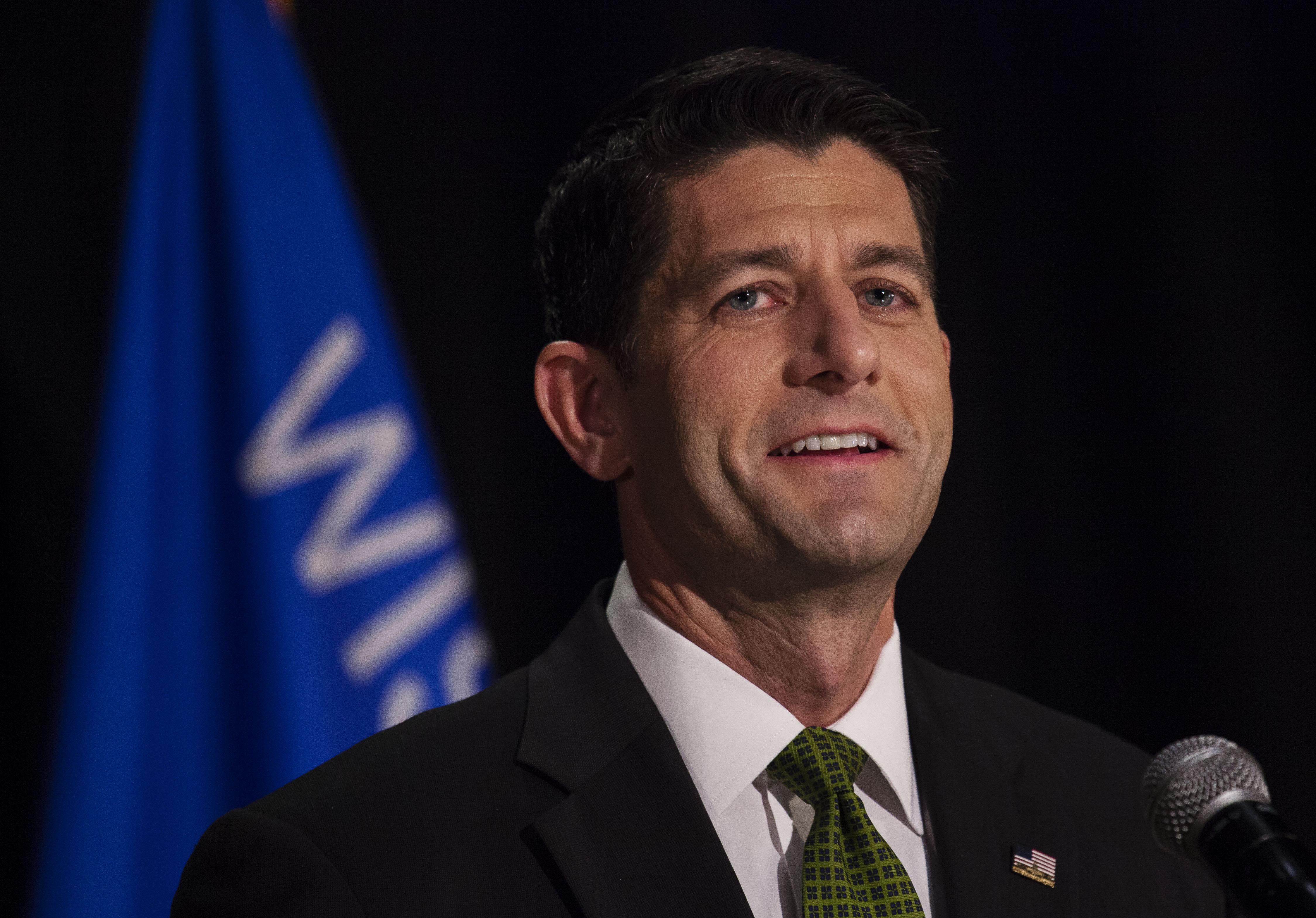 House Speaker Paul Ryan Holds Primary Night Event In Janesville, Wisconsin