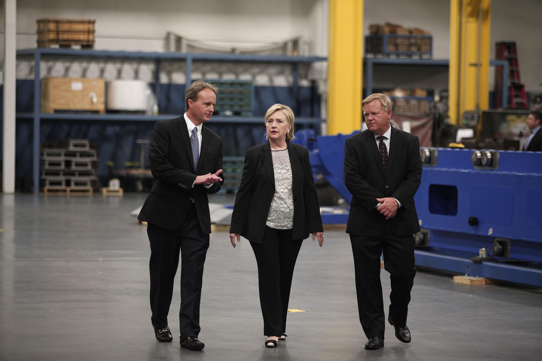 Hillary Clinton Delivers Speech On US Economy In Warren, Michigan