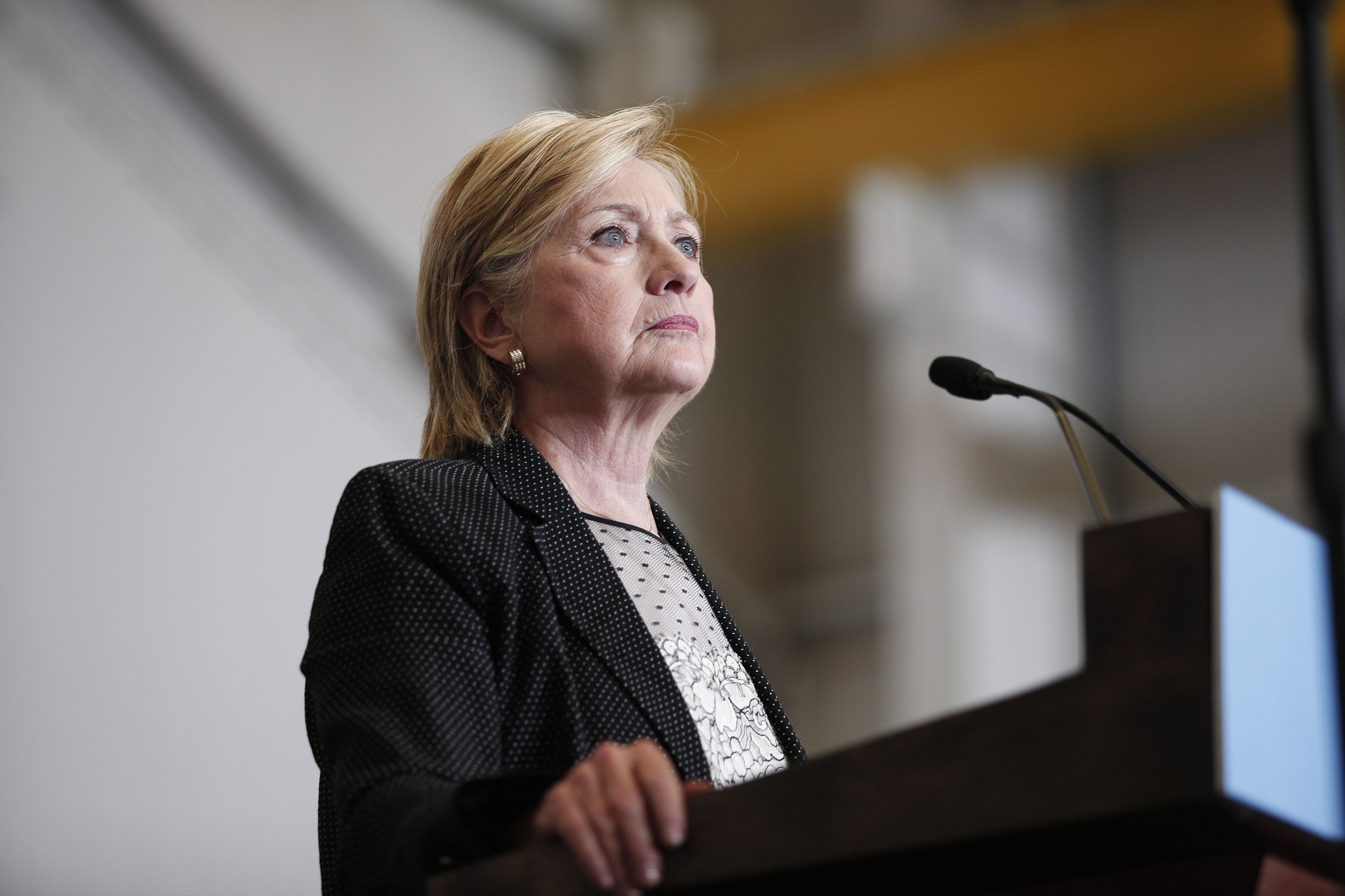 Hillary Clinton Delivers Speech On US Economy In Warren, Michigan