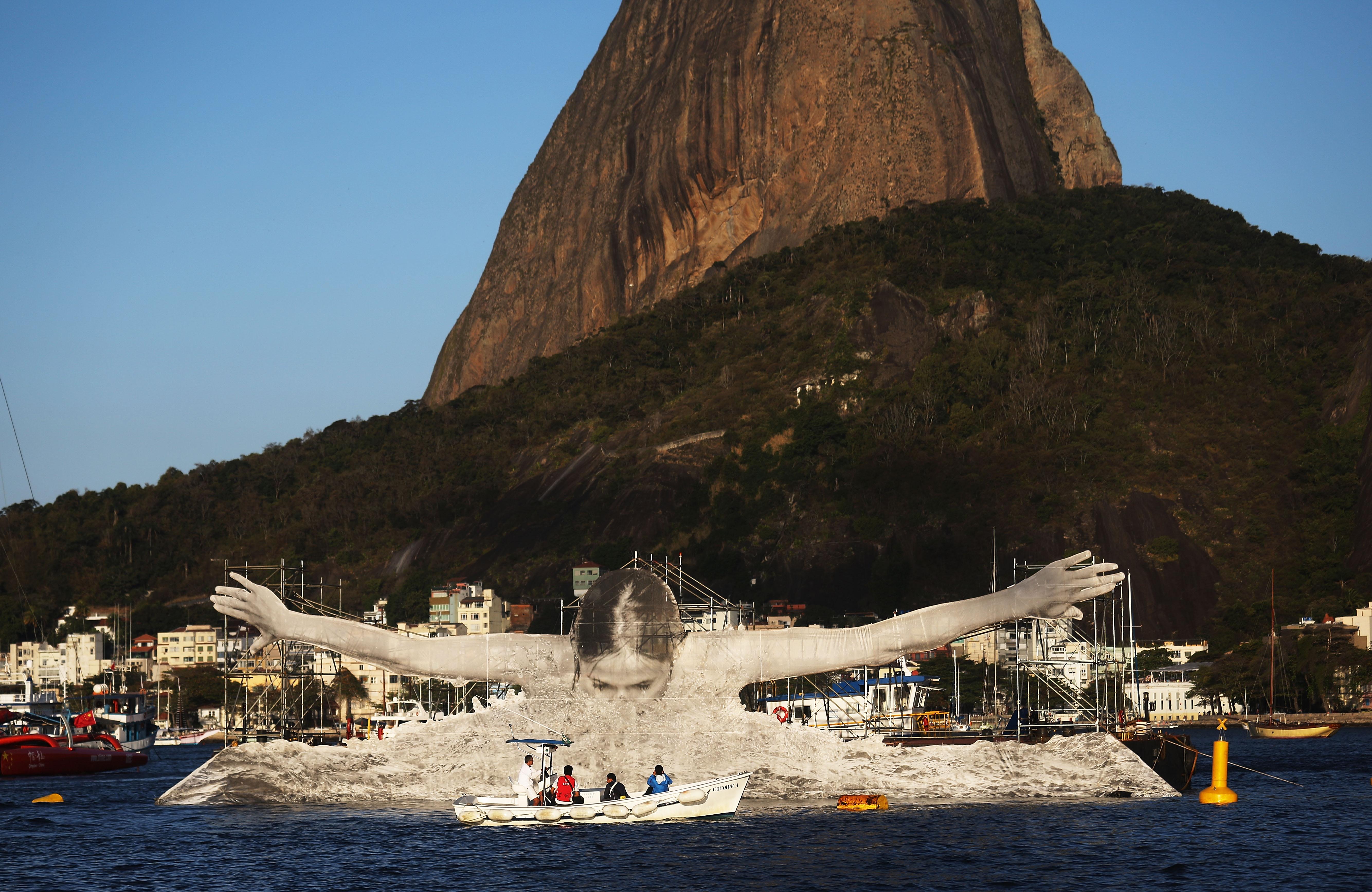 Rio Art Installations Celebrate Olympic Athletes