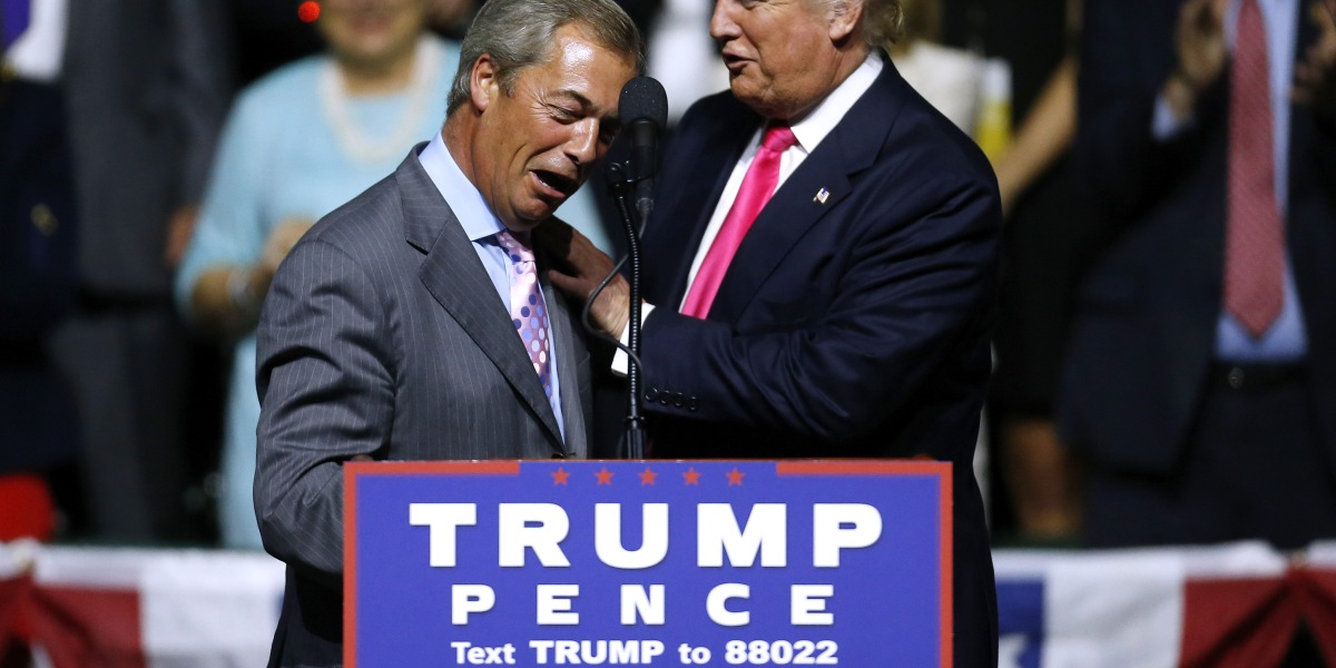 UK Leader of Brexit Tells a Trump Rally to 'Get Your Walking Boots On'