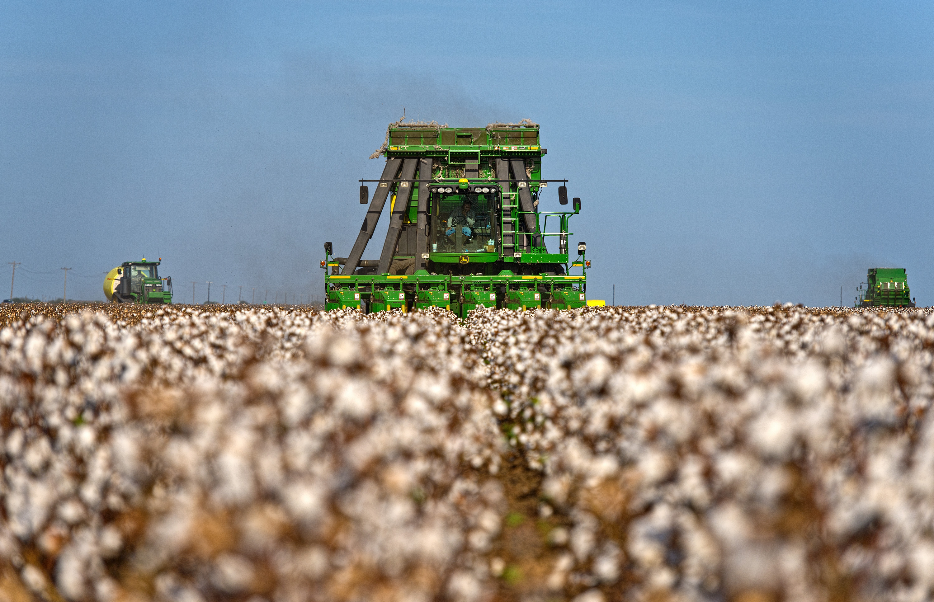 Operations During A Cotton Harvest At Legacy Farms