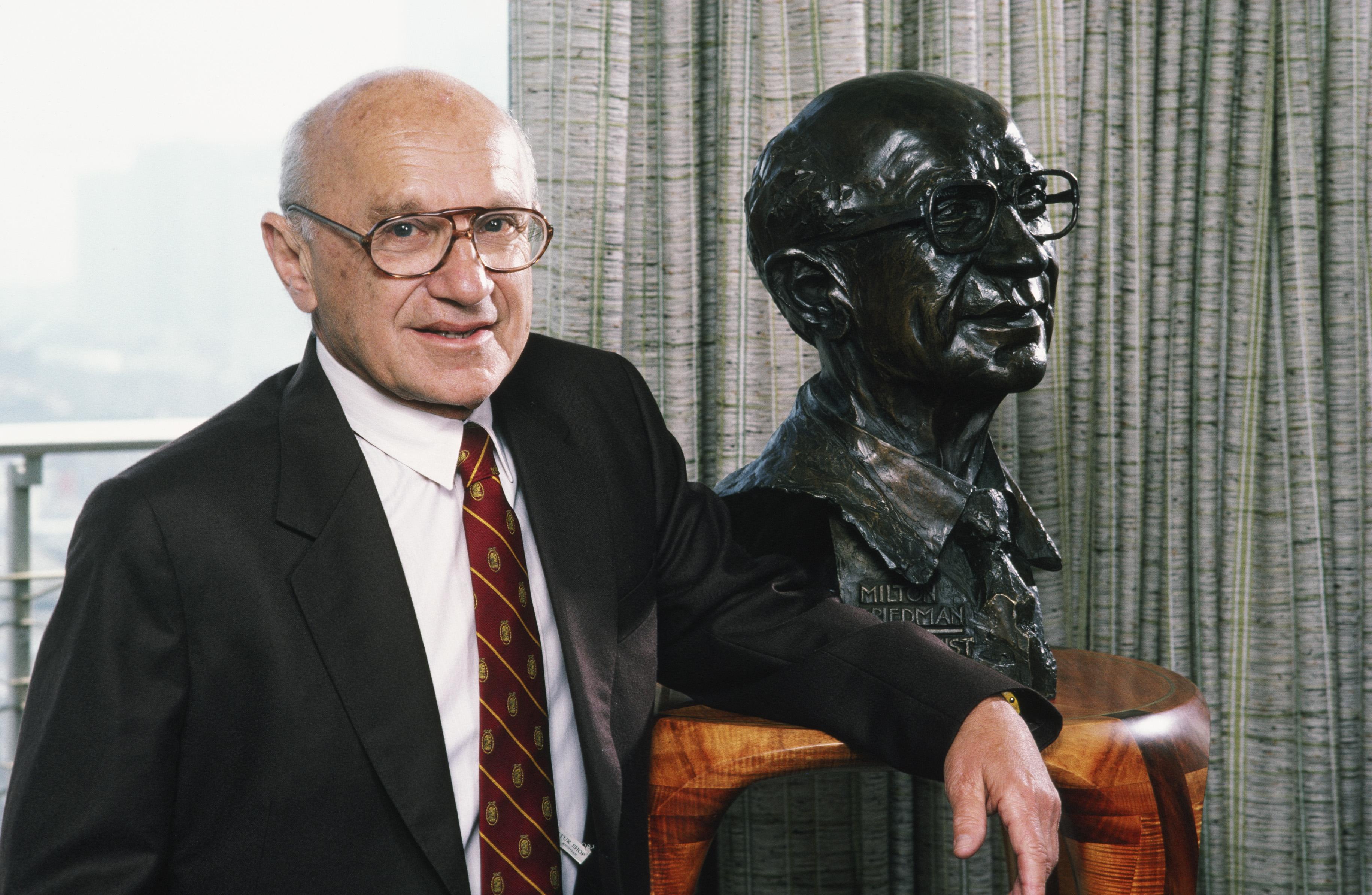 Economist Milton Friedman Portrait Session