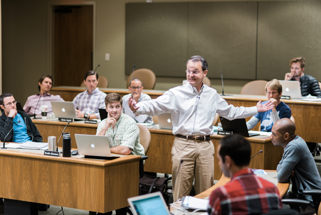 Jack Long, a co-founder of Acton, teaching a class. He was previously a professor at UT-Austin McCombs.