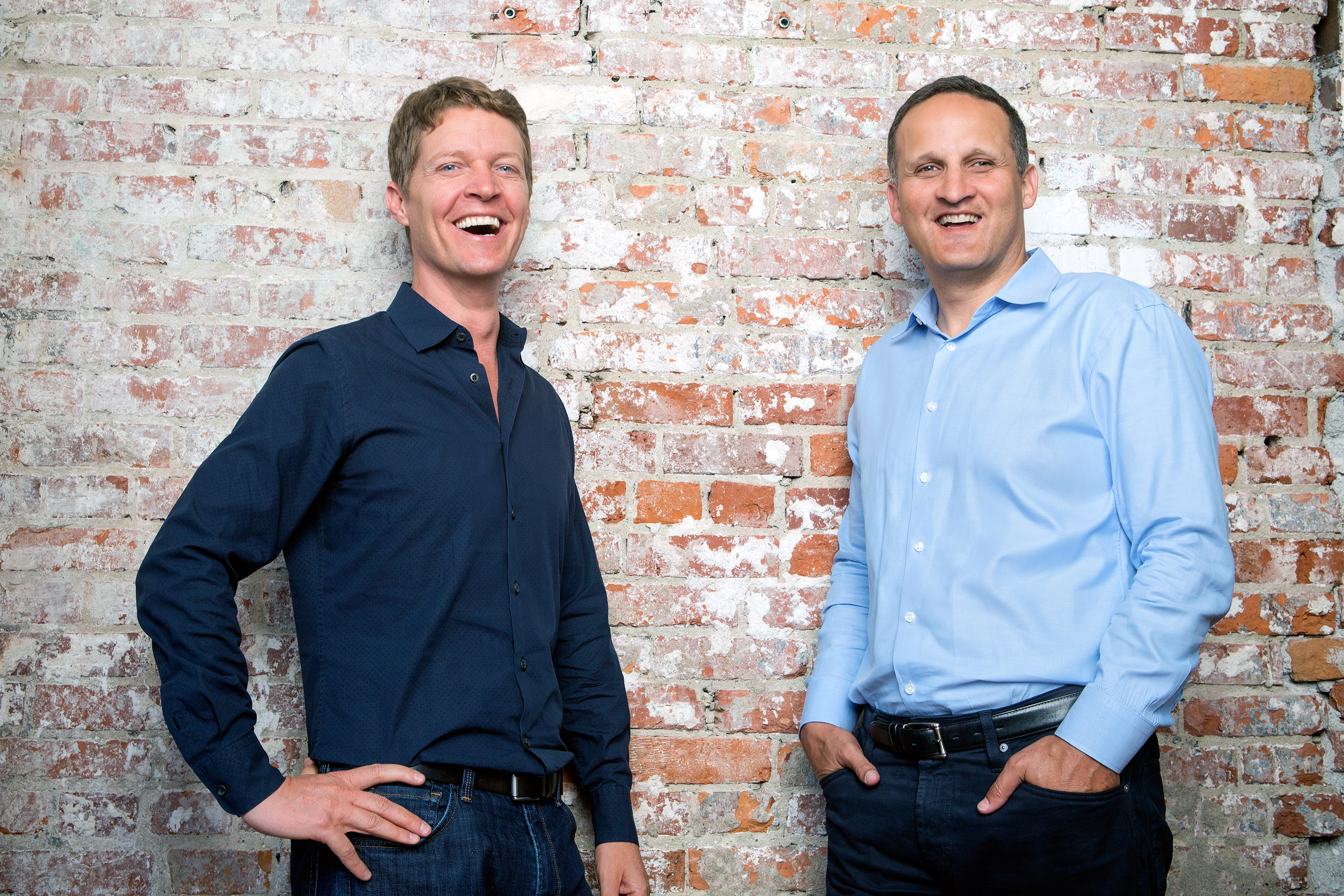 Tableau Software co-founder and chairman Christian Chabot (l.) and new CEO Adam Selipsky.
