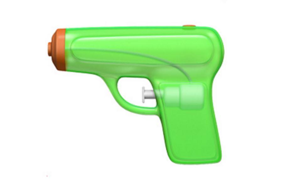 Apple water pistol