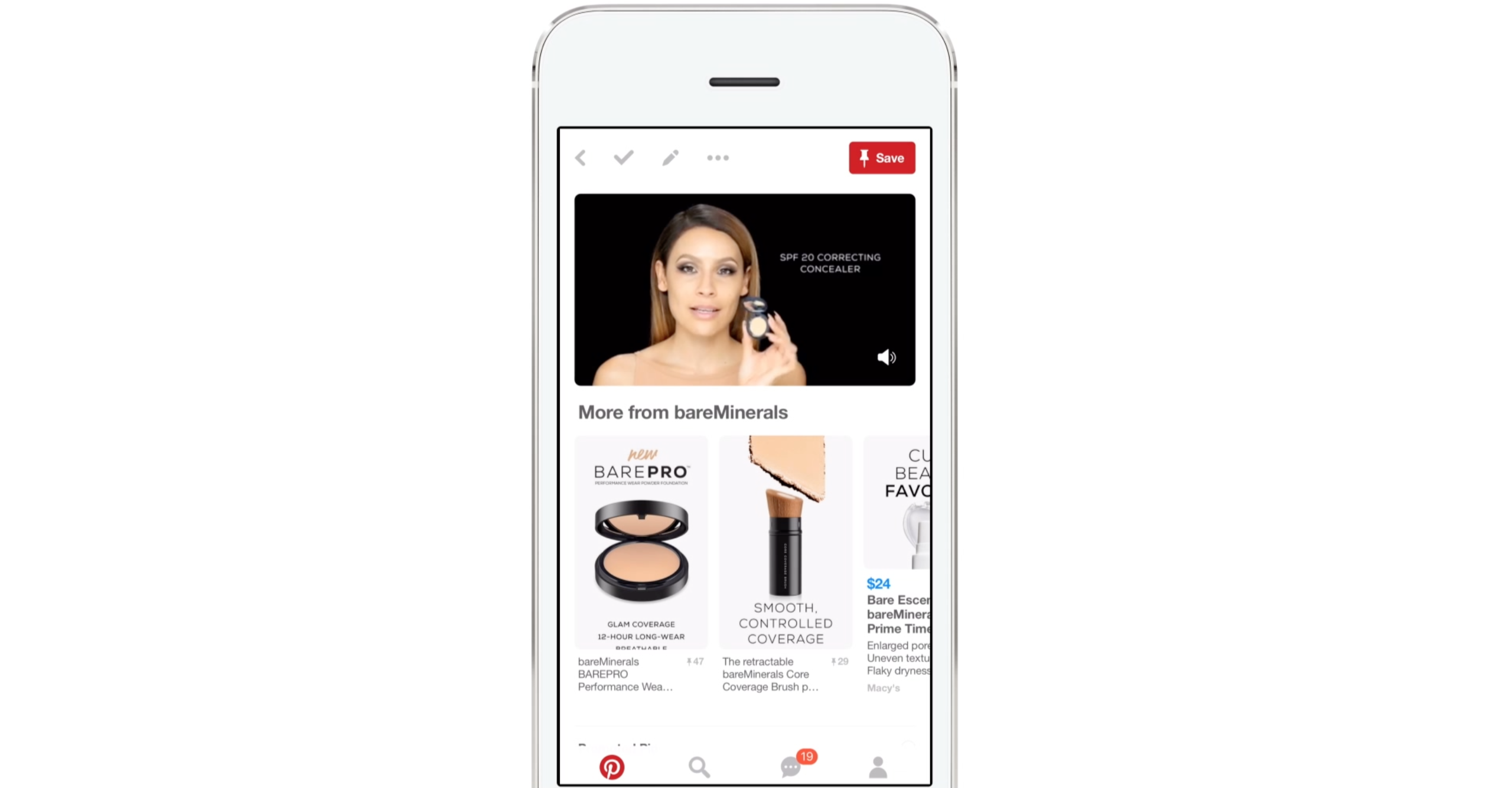 """Pinterest's new video ads come with static """"pins"""" bands can customize."""