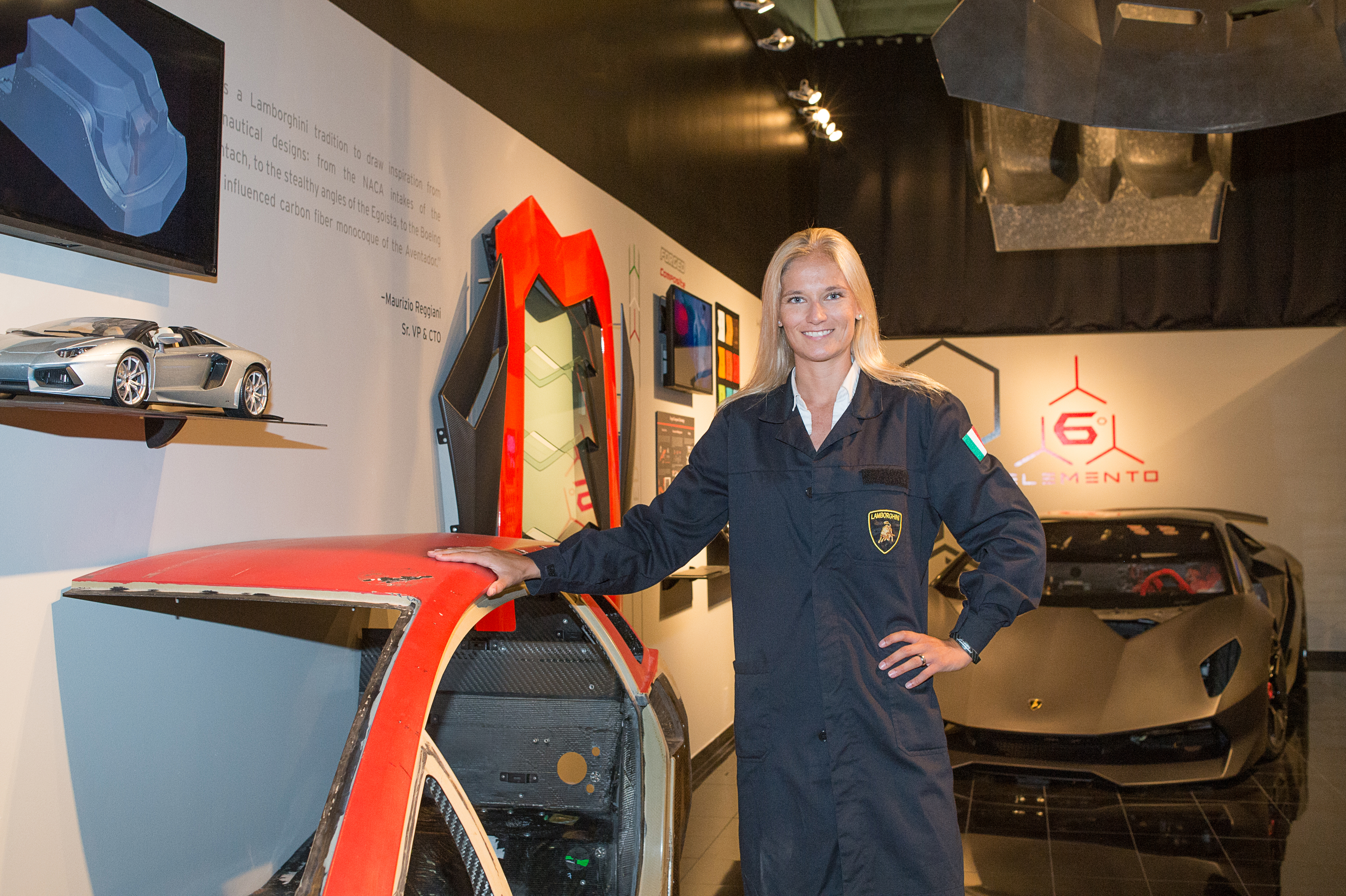 Bonnie Wade, lab manager & research engineer at Lamborghini