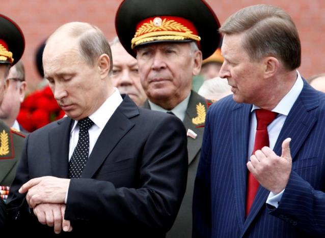 Russian President Putin and chief of President's staff Ivanov attend ceremony marking 72nd anniversary of Nazi German invasion in Moscow