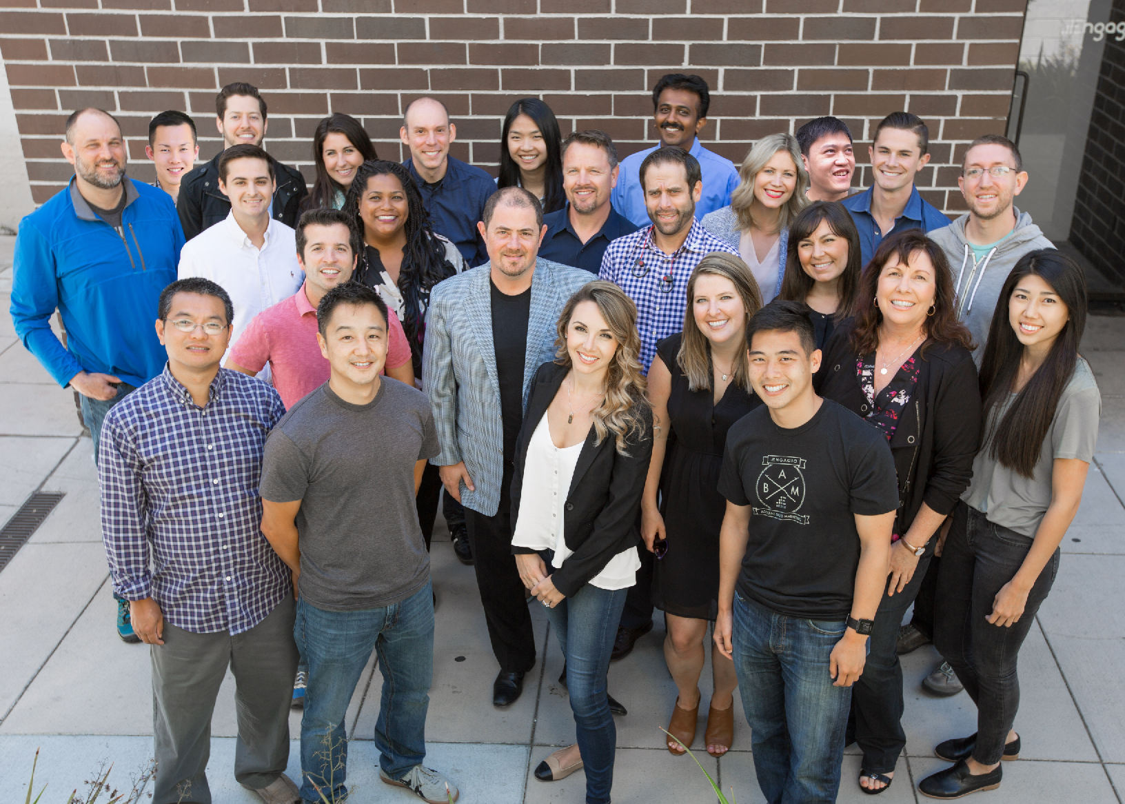 The Engagio team, with co-founder and CEO Jon Miller (in center with jacket)