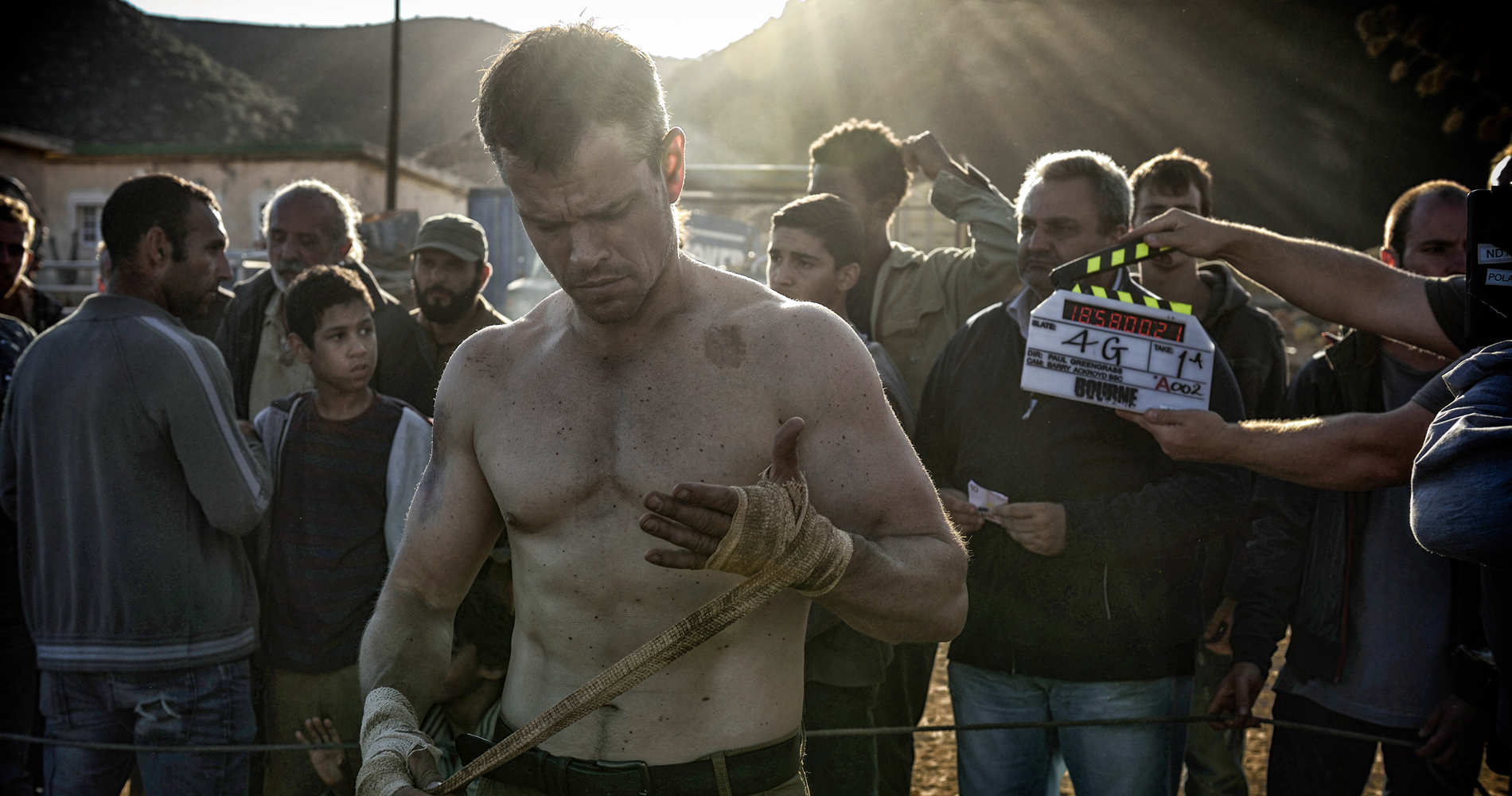 Matt Damon shooting 'Jason Bourne.'