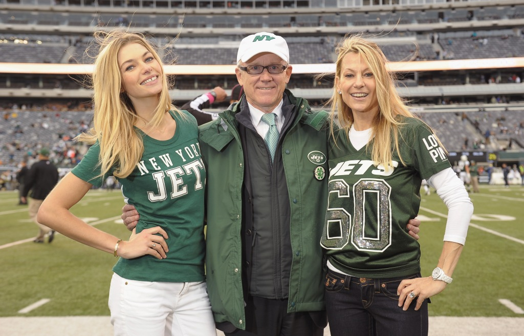 Victoria's Secret PINK Model Jessica Hart Attends The Jets Game To Celebrate The NFL Victoria's Secret PINK Collection