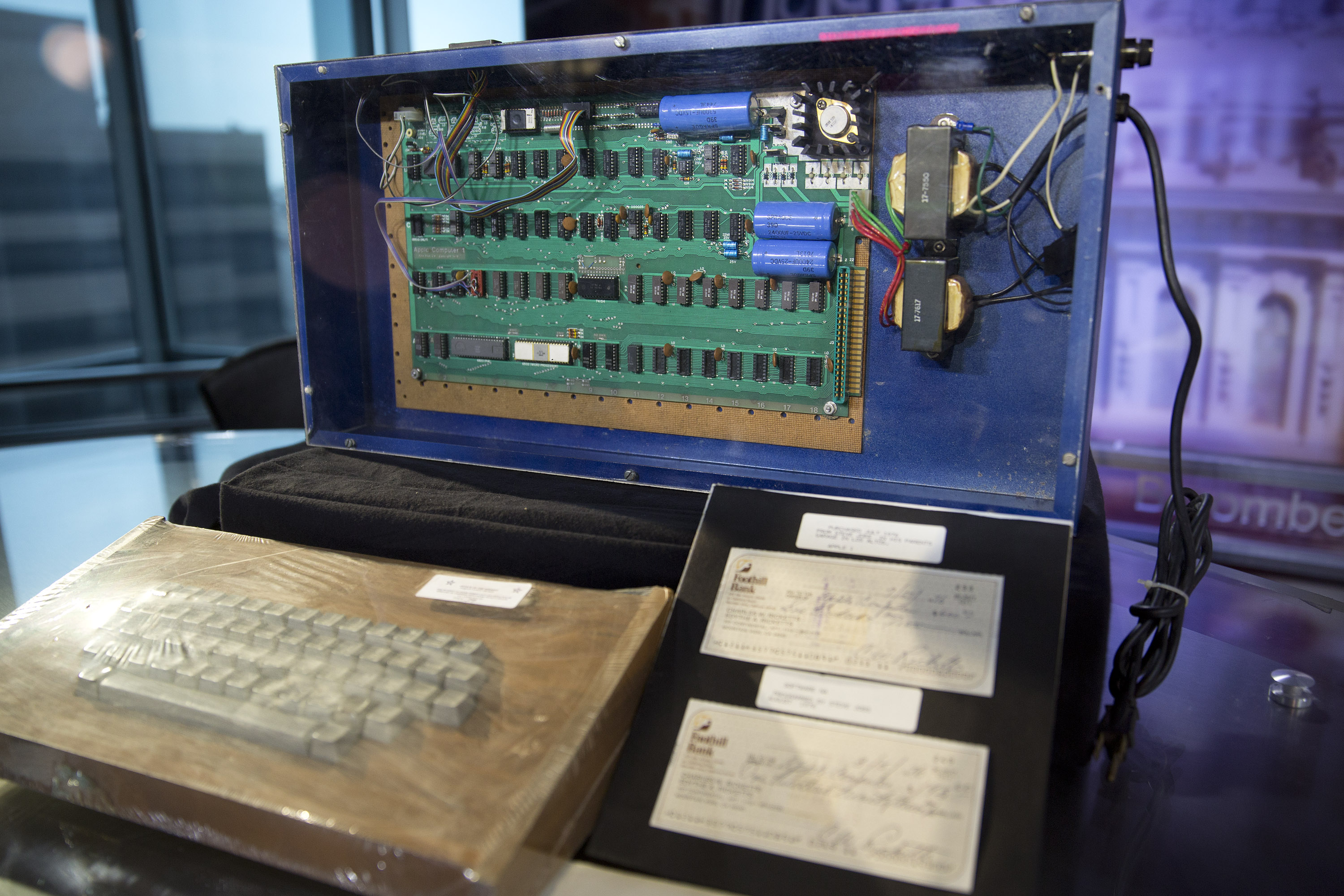 Author Robert Luther's Apple 1 Computer On Display