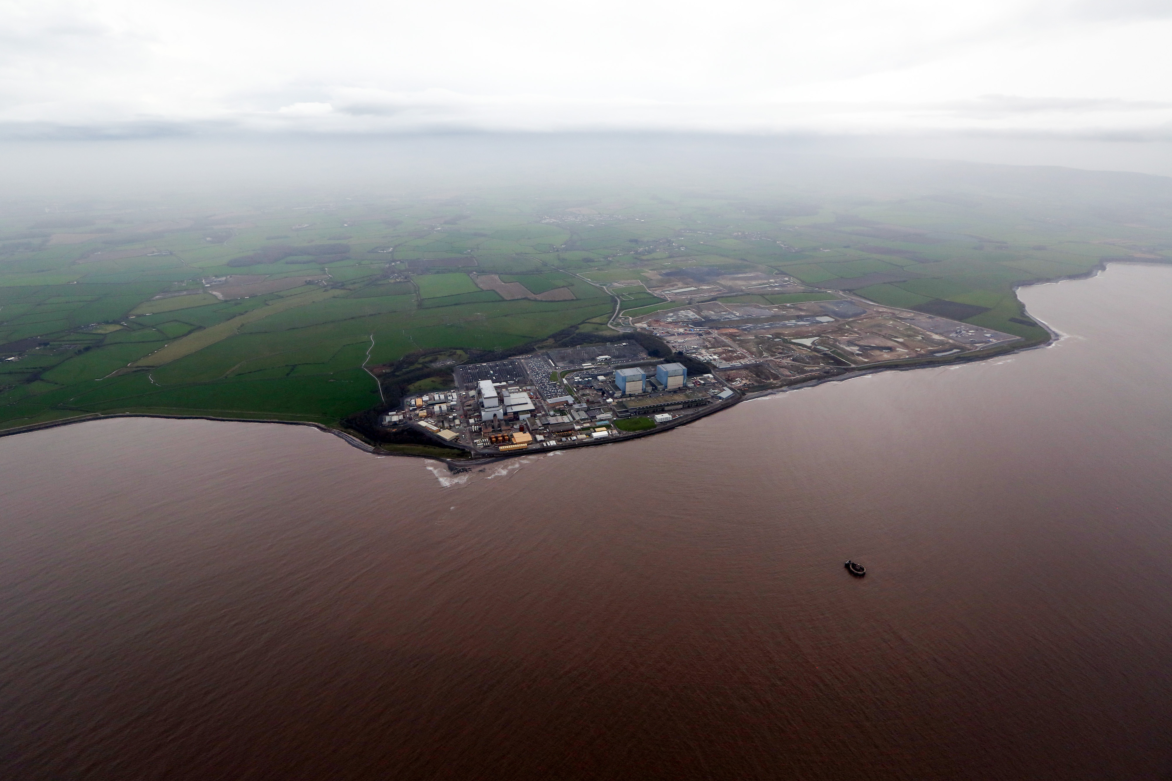 EDF's Hinkley Point B Nuclear Power Station As Company Agrees Deal With China General Nuclear Power Corp To Build Nuclear Plant