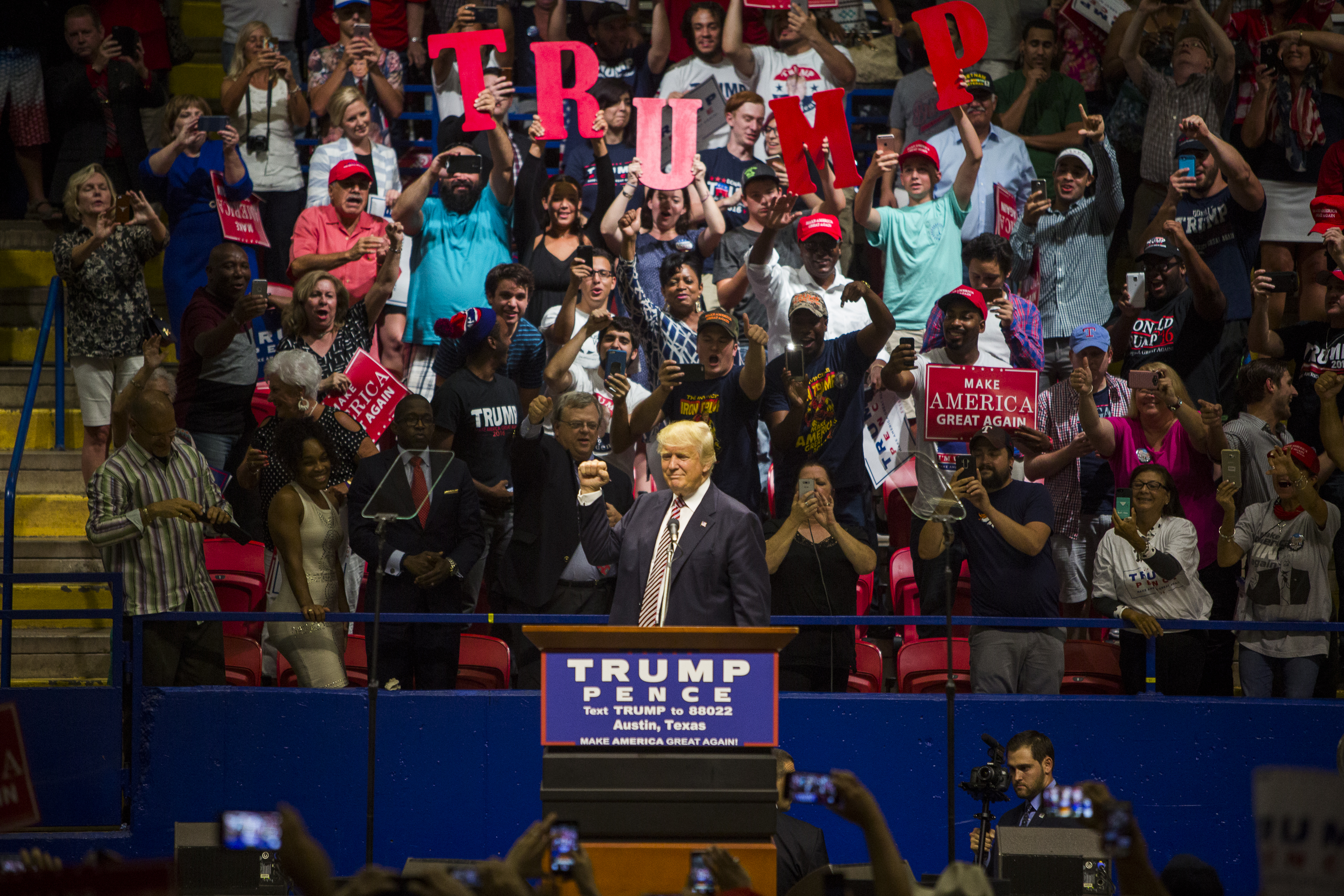 Republican Presidential Nominee Donald Trump Holds Rally In Austin, Texas