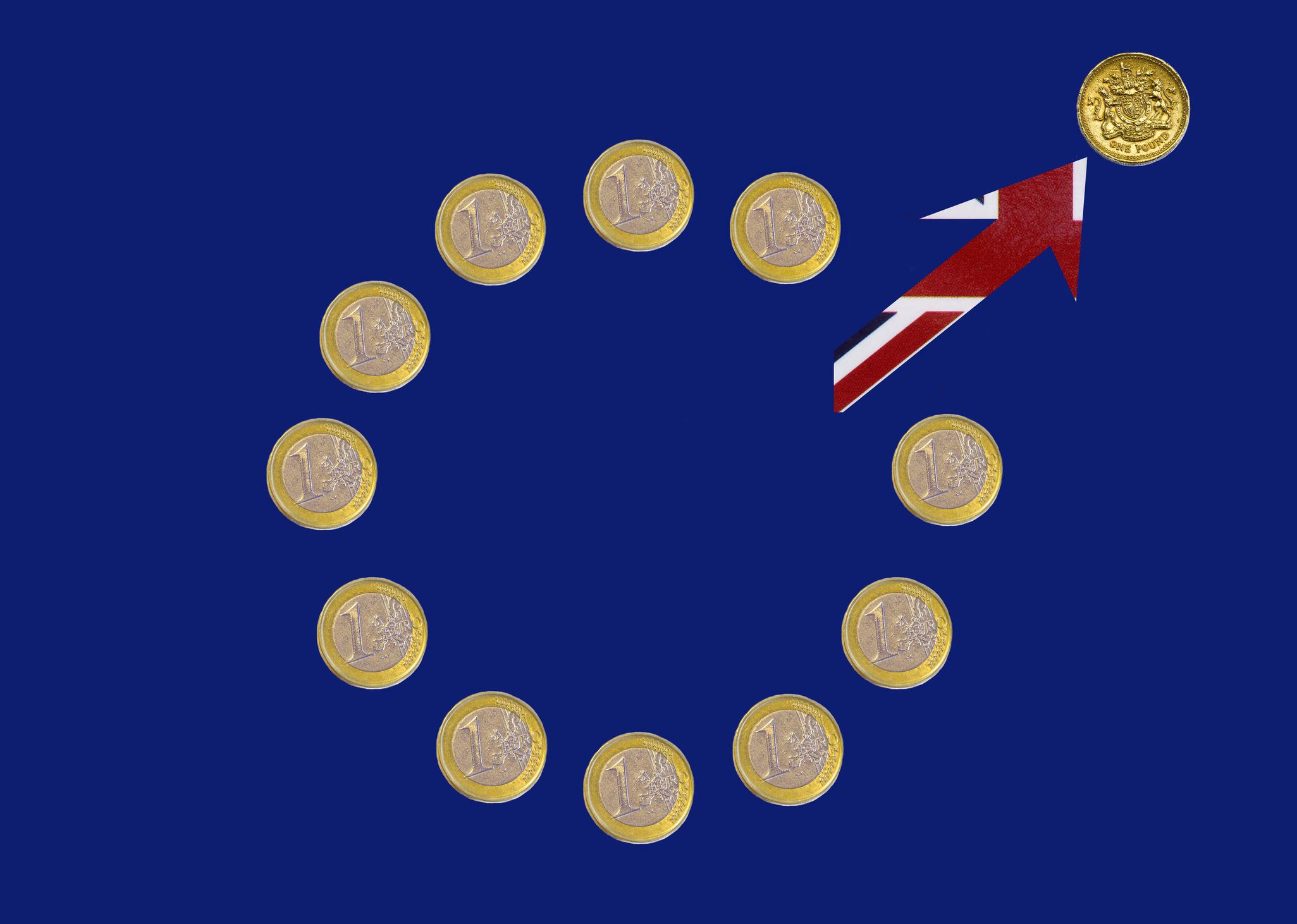 UK leaving EU post Brexit illustrated.