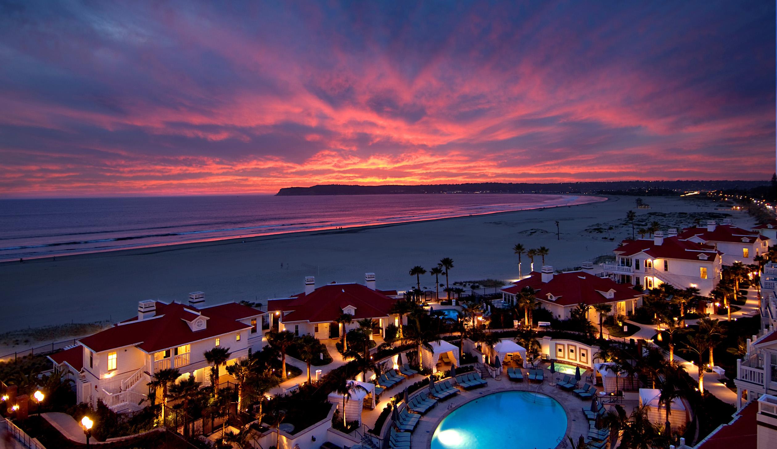 Beach Village at sunset