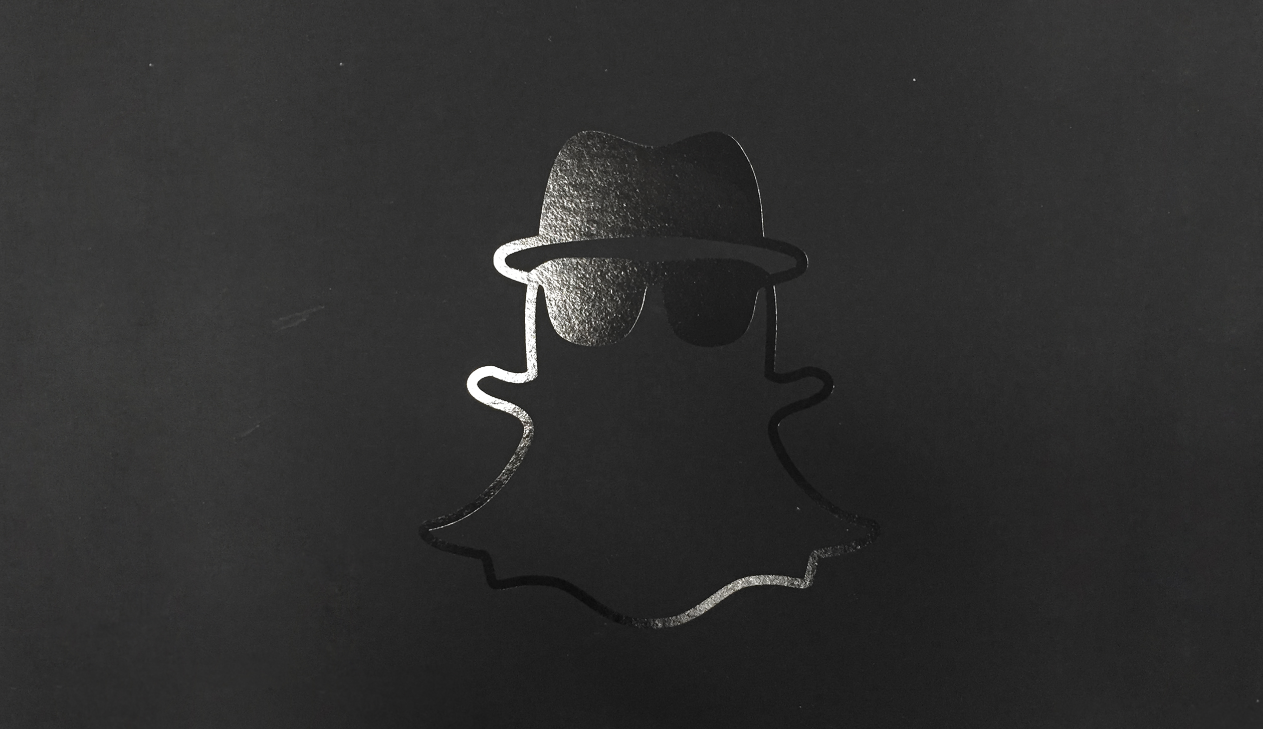 """Snapchat's mascot """"Ghostface Chillah,"""" the spy edition."""