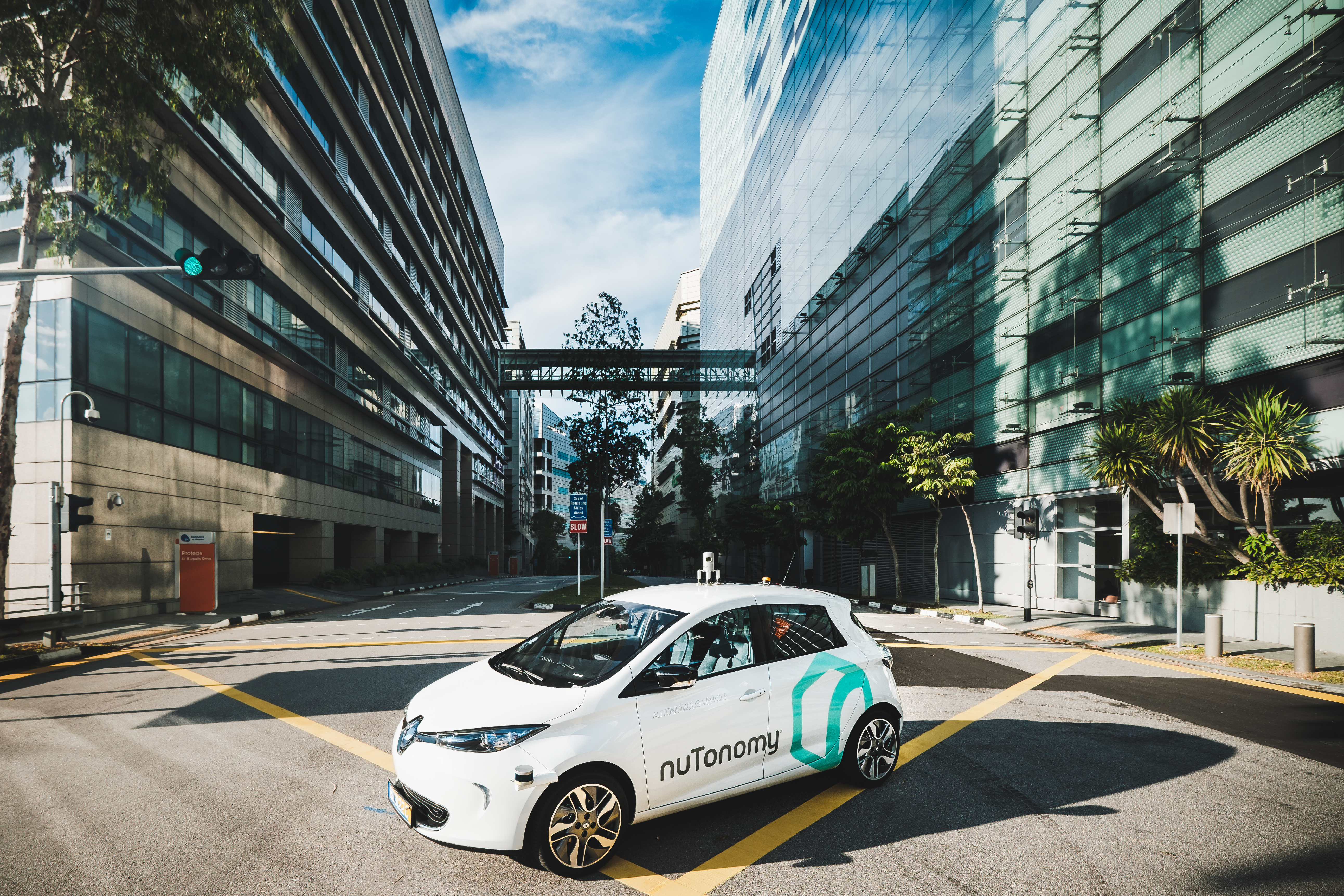 NuTonomy launched the first public self-driving taxi service in Singapore.