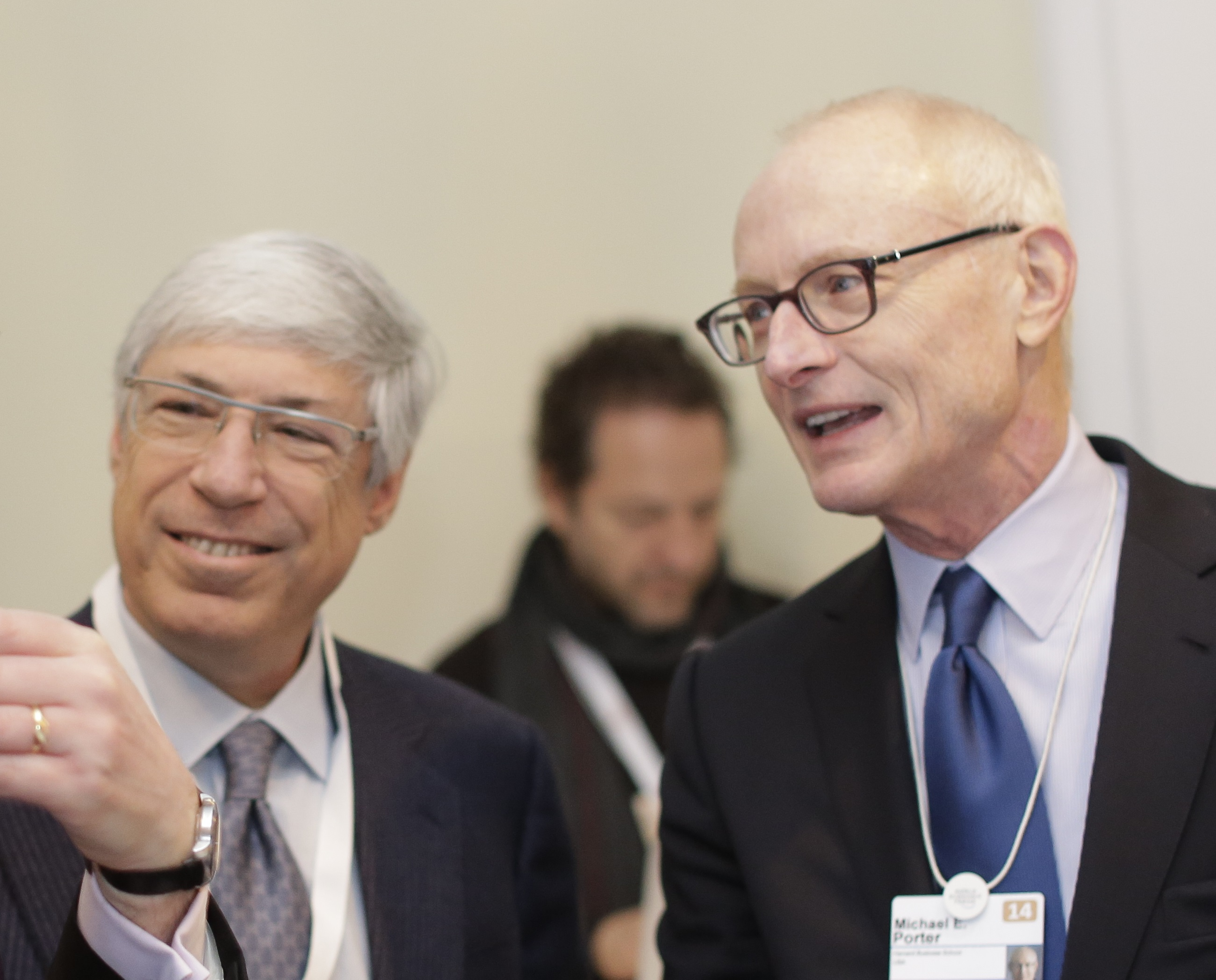 Mark Kramer, left, and Michael Porter.