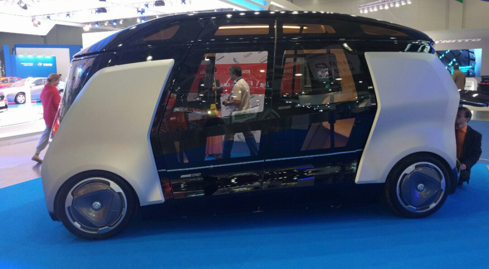 Concept for driverless minibus developed by NAMI, Kamaz and Yandex.