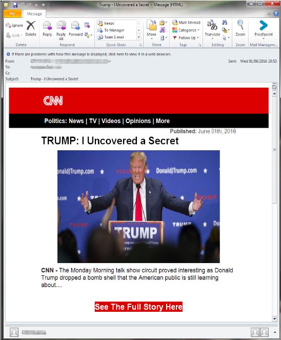 Trump scam email