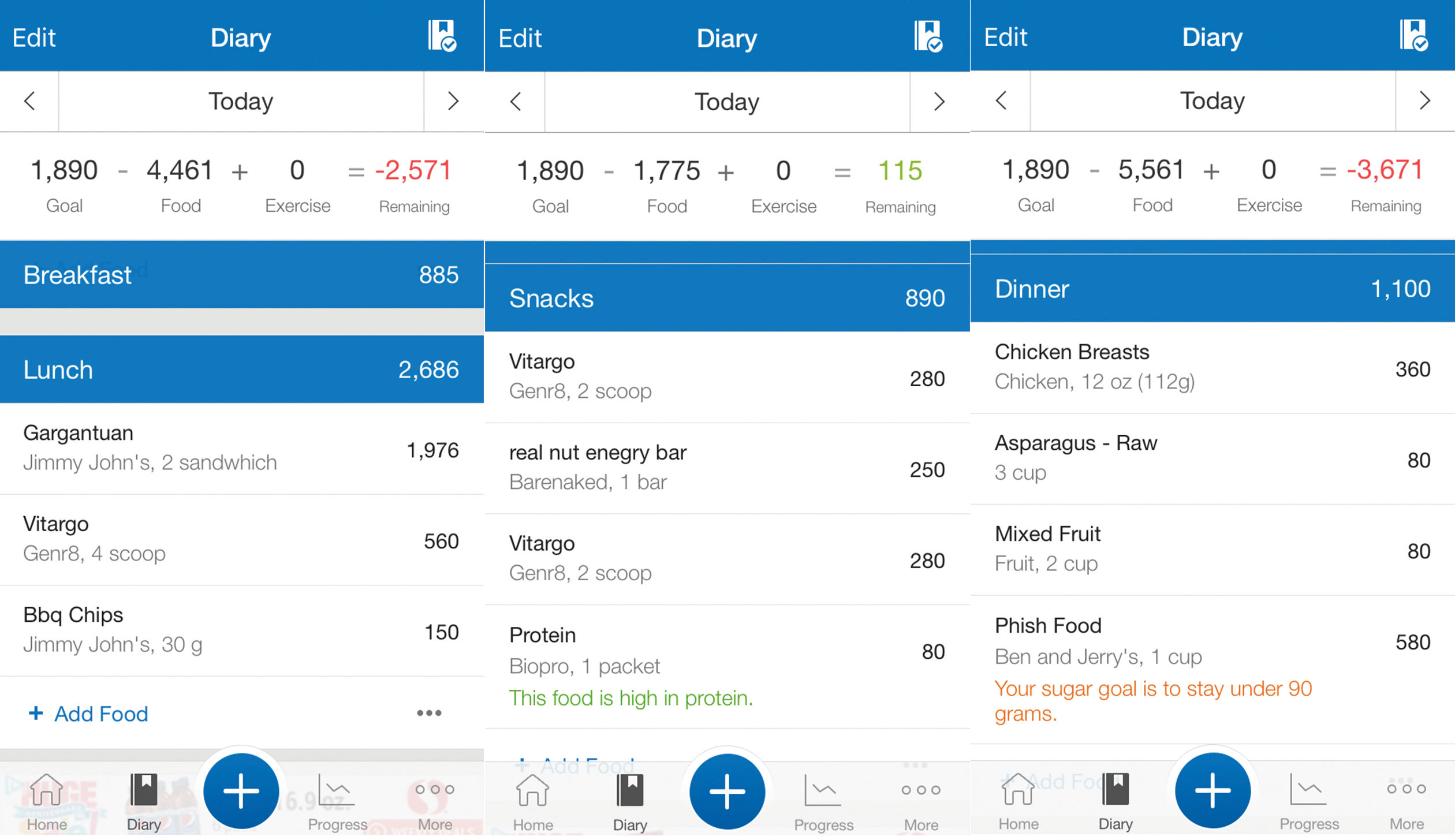 Michael Phelps and his team used MyFitnessPal to track the athlete's food intake.