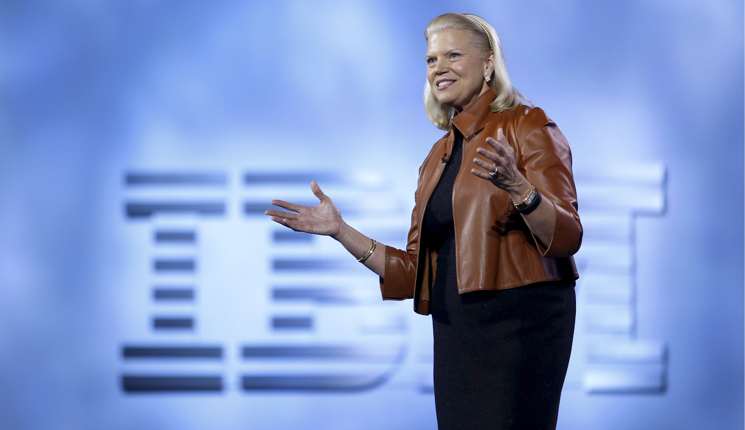 IBM's Rometty gives a keynote address during the 2016 CES trade show in Las Vegas