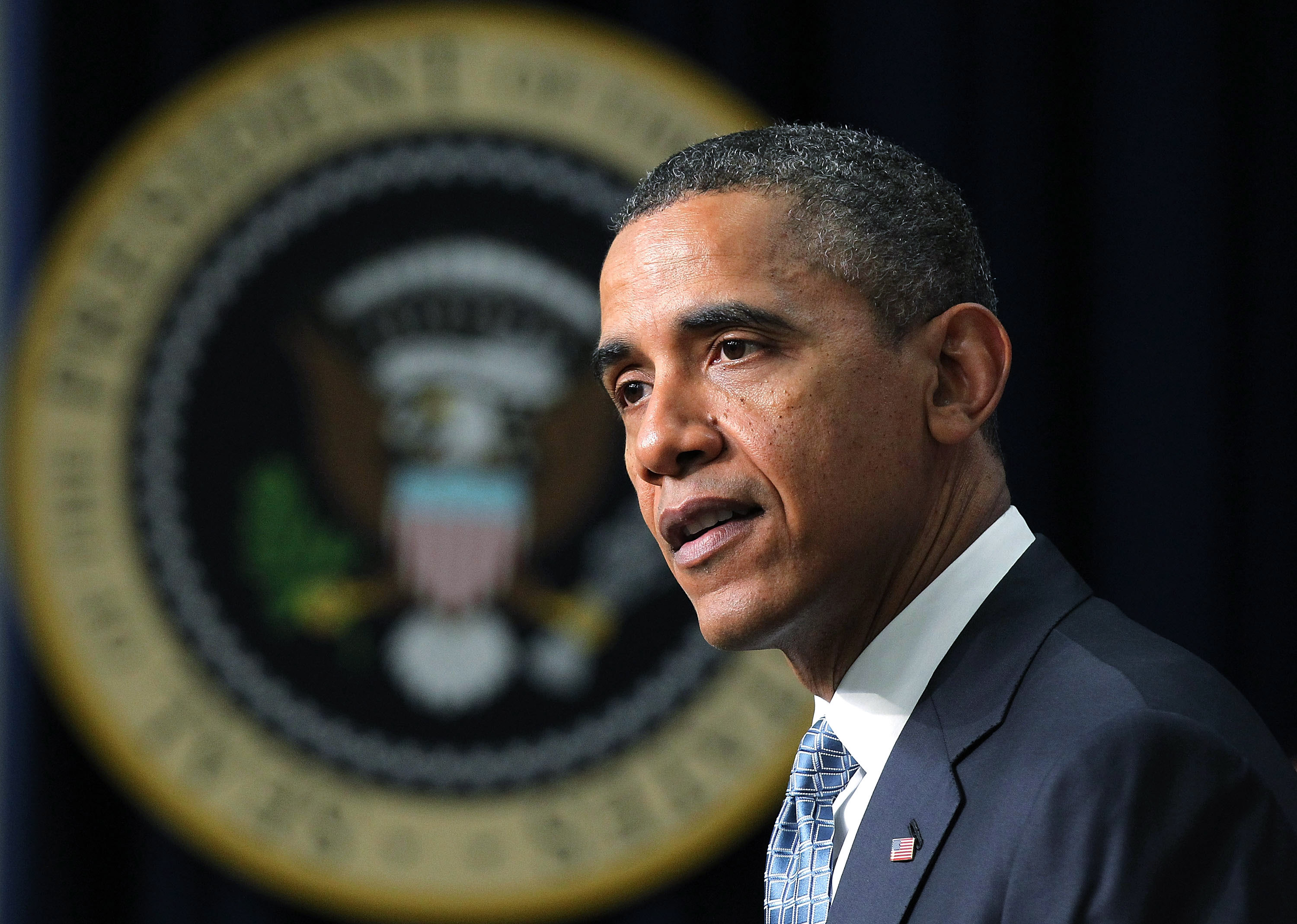 U.S. President Barack Obama talks about tax cuts in Washington, D.C.