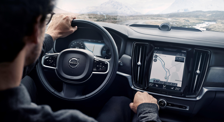 Interior of Volvo V90 Cross Country