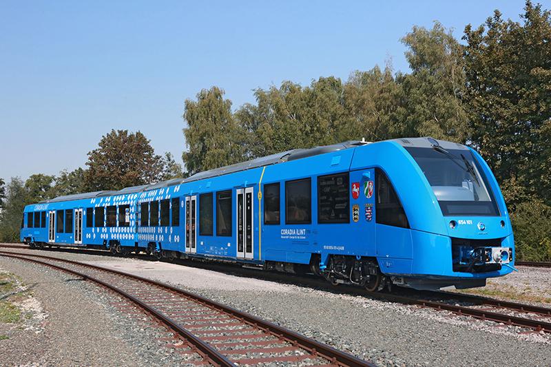 The Coradia iLint zero-emission train.