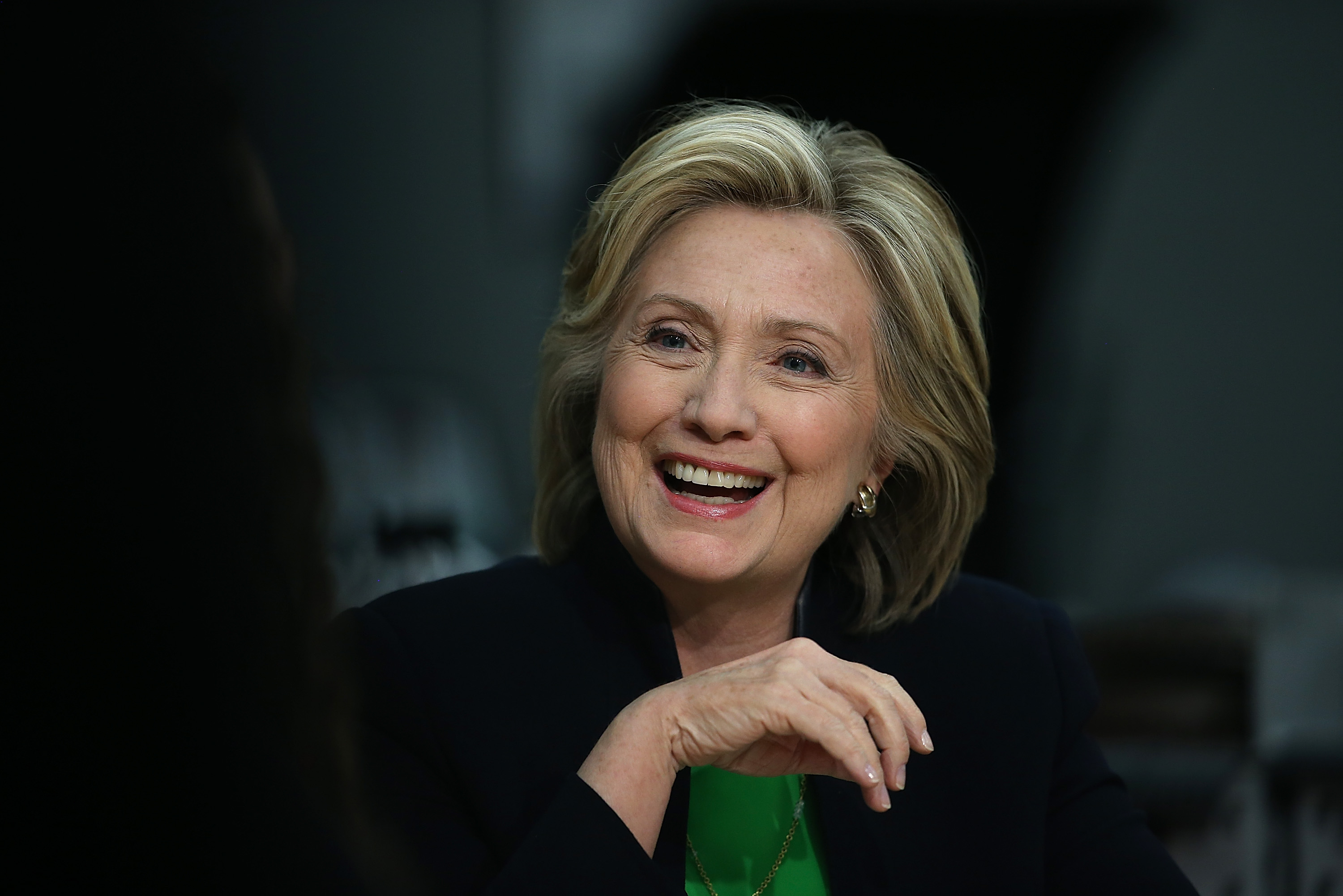 Hillary Clinton Begins Presidential Campaign In Iowa