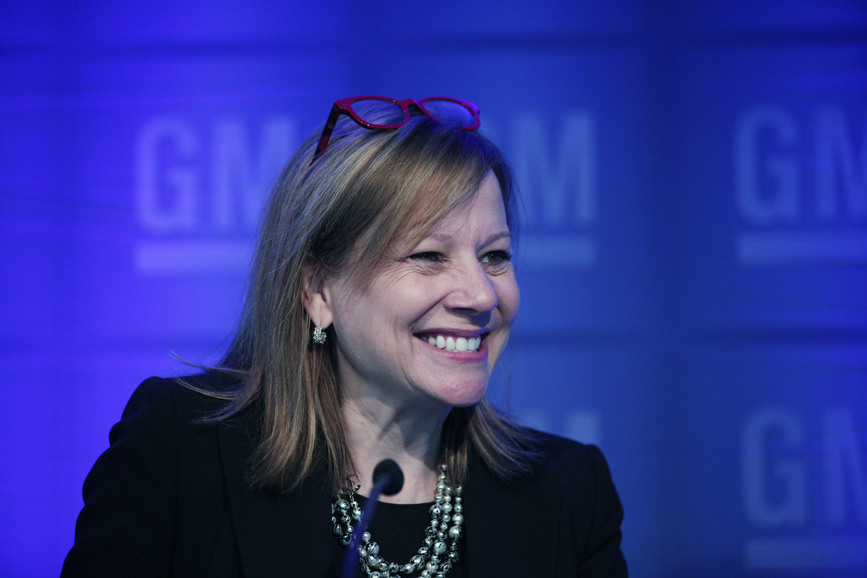 GM CEO Mary Barra Holds News Conference During Annual Shareholders Meeting
