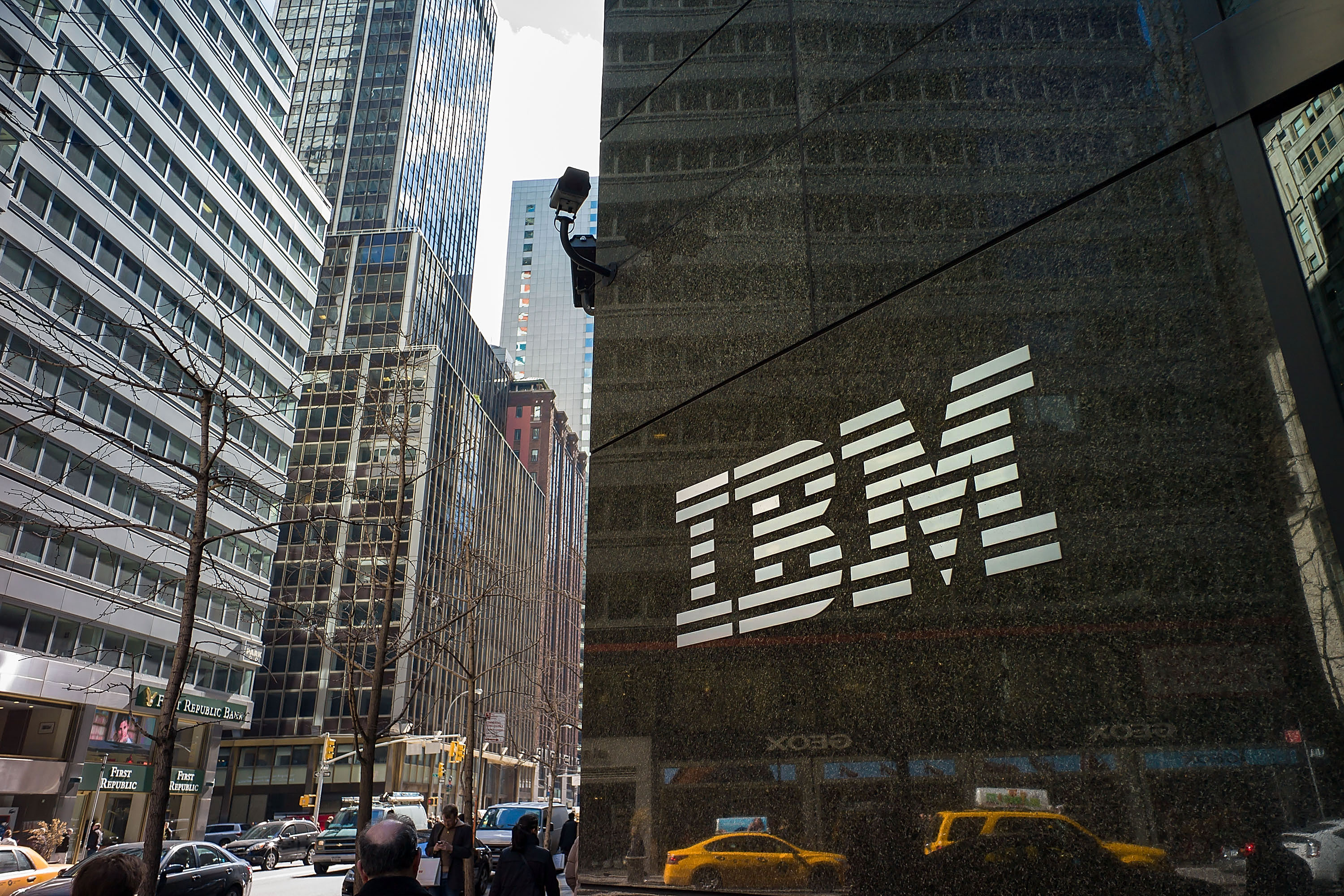 A view of the IBM office in New York.