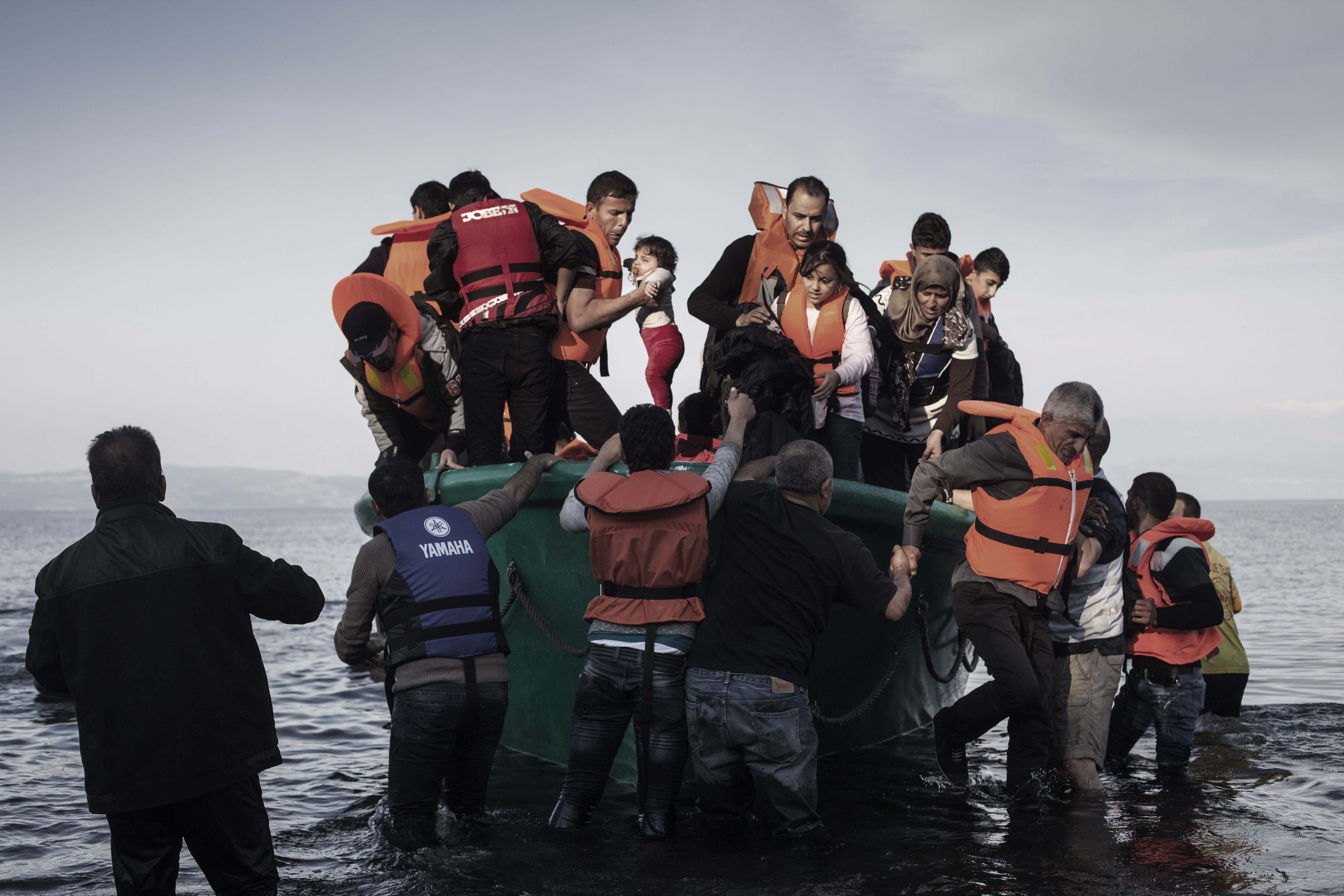 Migrant Continue To Arrive On Greek Island Of Lesbos