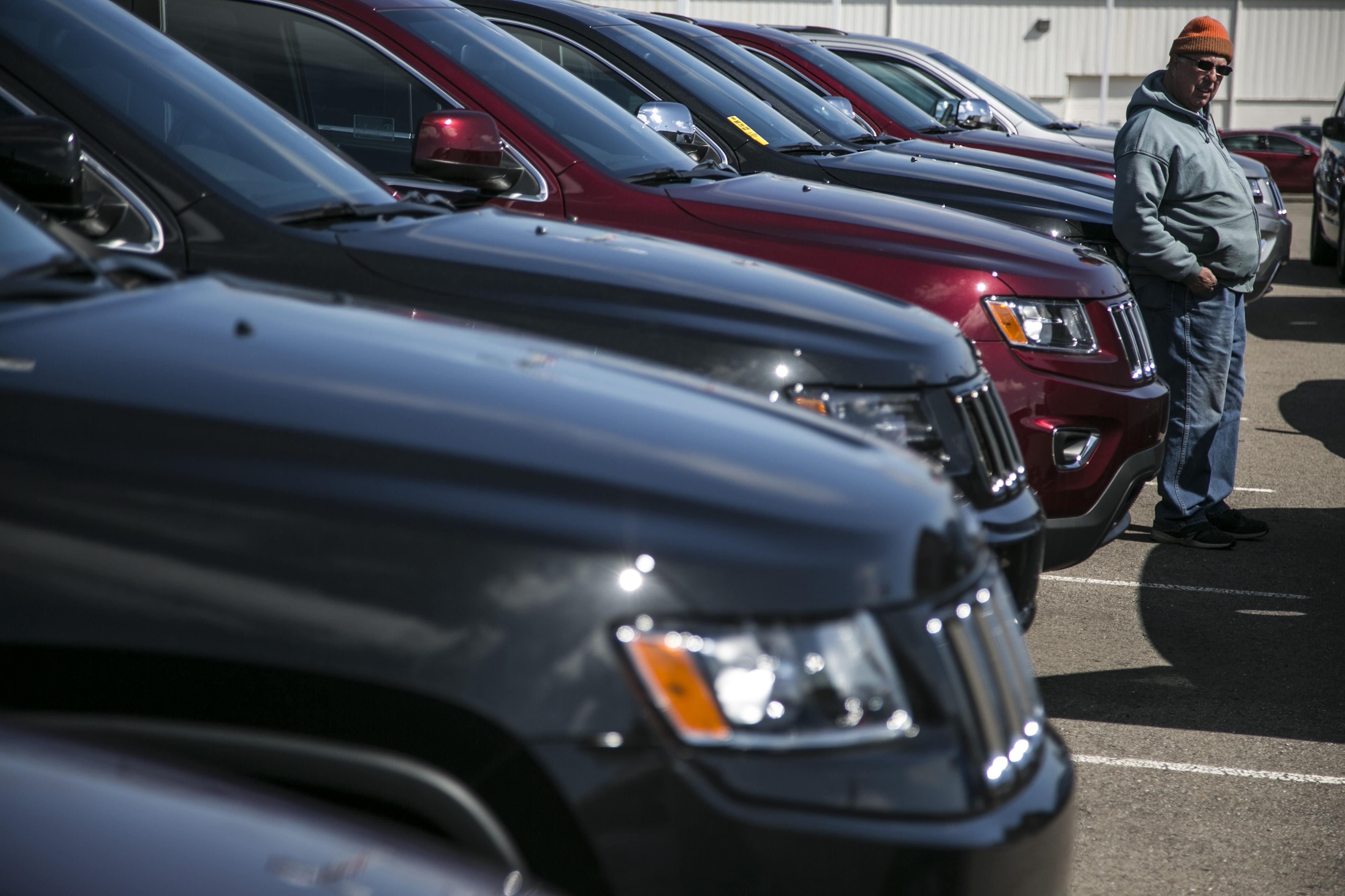 Inside A Car Dealership Ahead Of Motor Vehicle Sales Figures