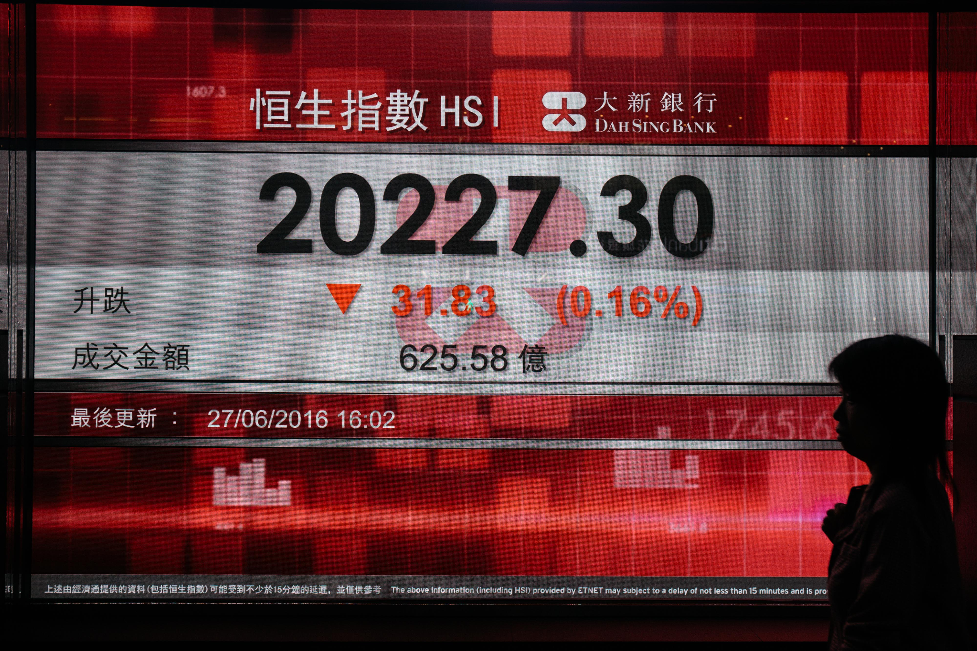 Hong Kong Business District As Brexit Hits Markets