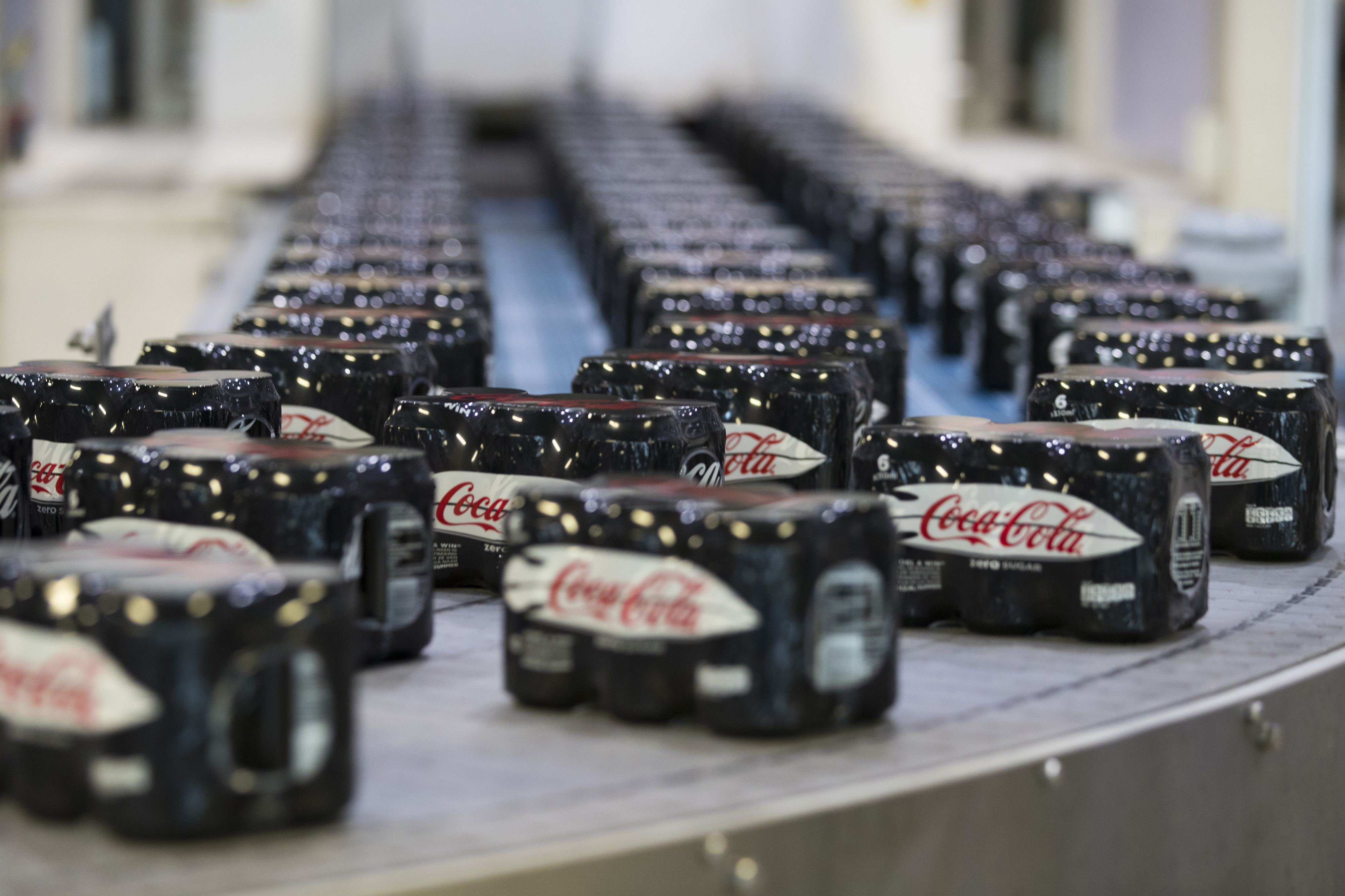 Soft Drink Manufacture At A Coca-Cola Co. Factory