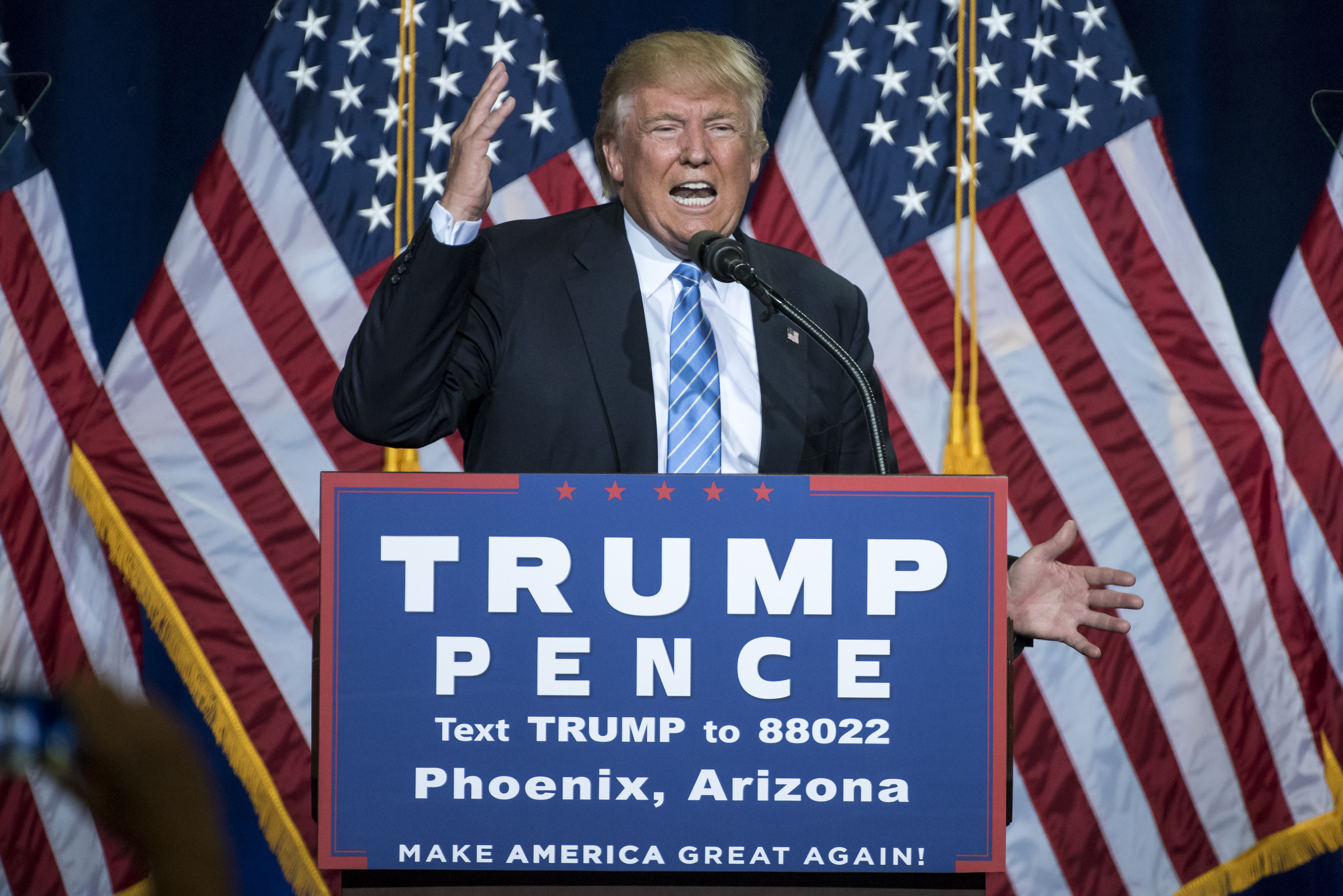 Republican Presidential Candidate Donald Trump Delivers Speech On Immigration