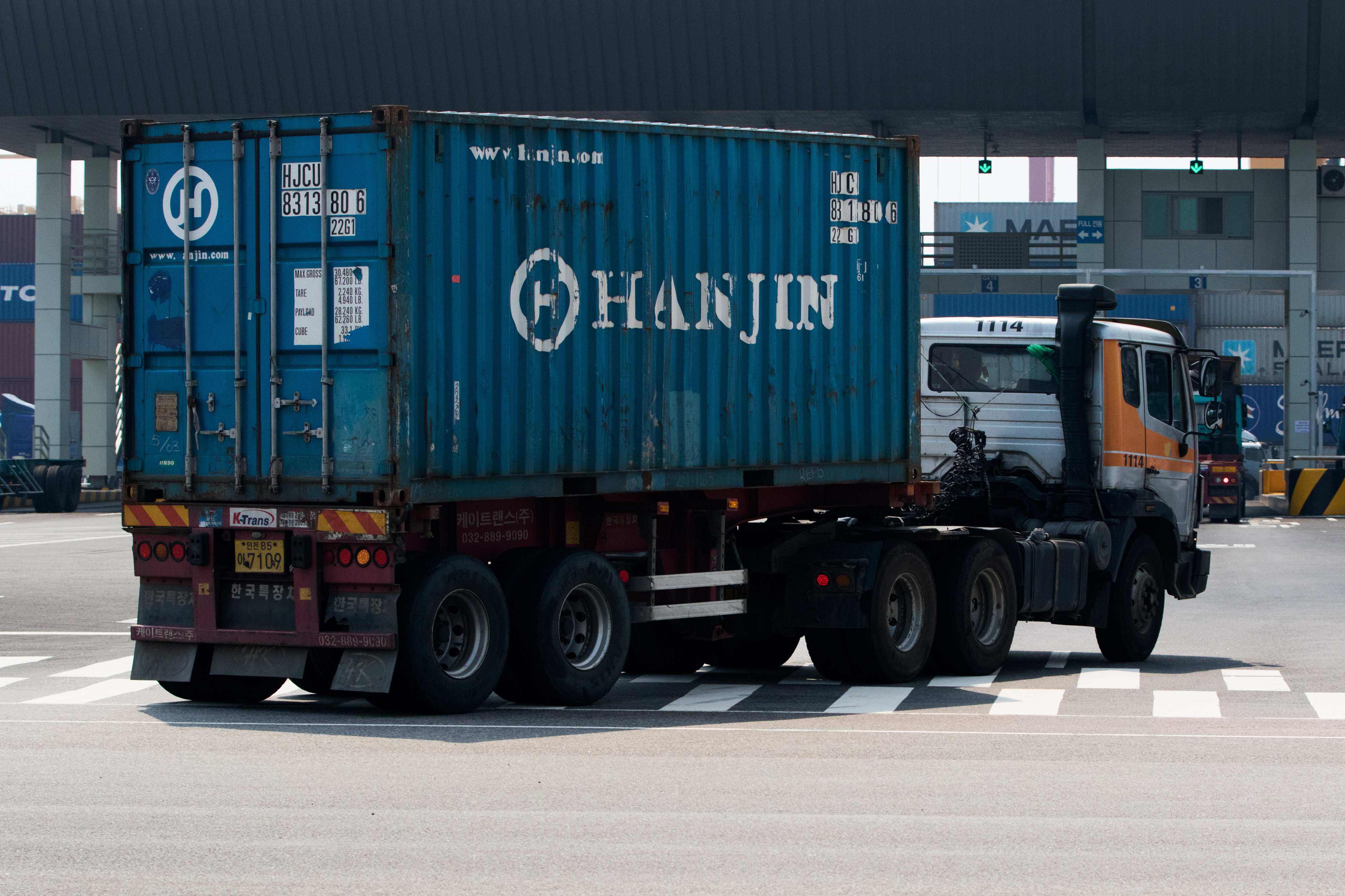 Views of Hanjin Shipping Co. Headquarters And Port Area As Company's Ships Get Stranded In High Sea