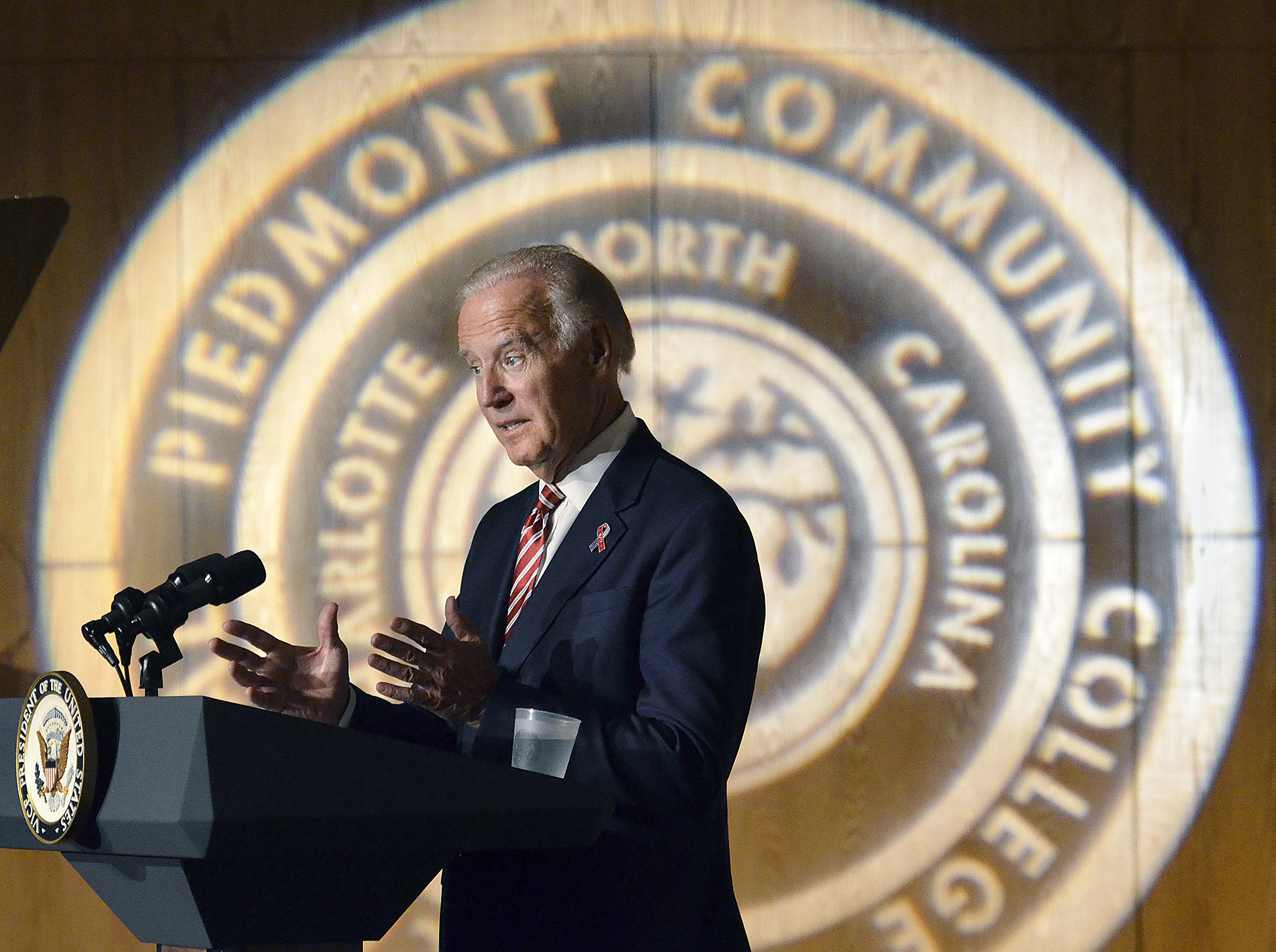 Clinton doing well, Biden says in Charlotte