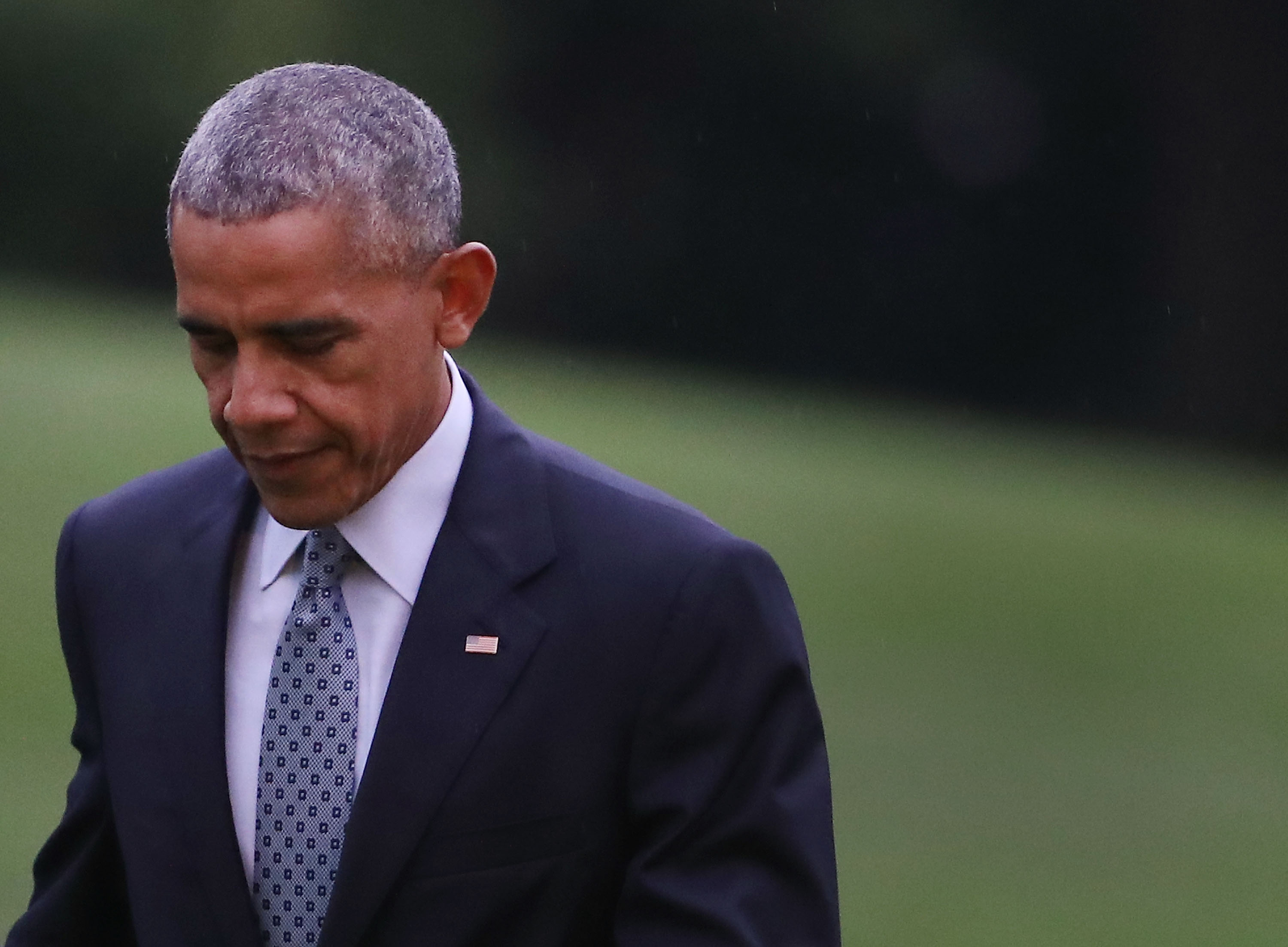 President Obama Arrives Back To The White House After Trip To Richmond, Virginia