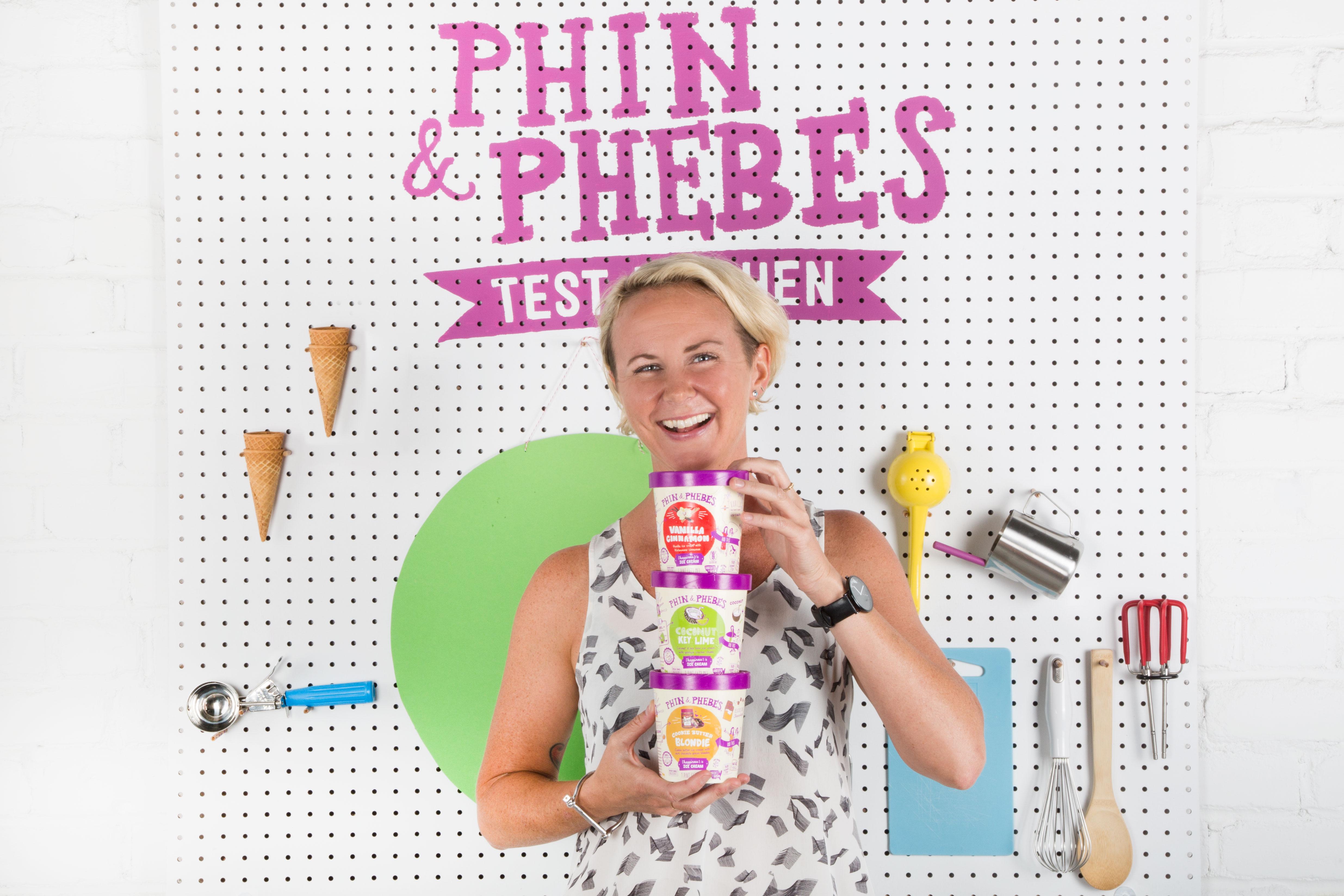 Crista Freeman, founder of Phin and Phebe's Ice Cream