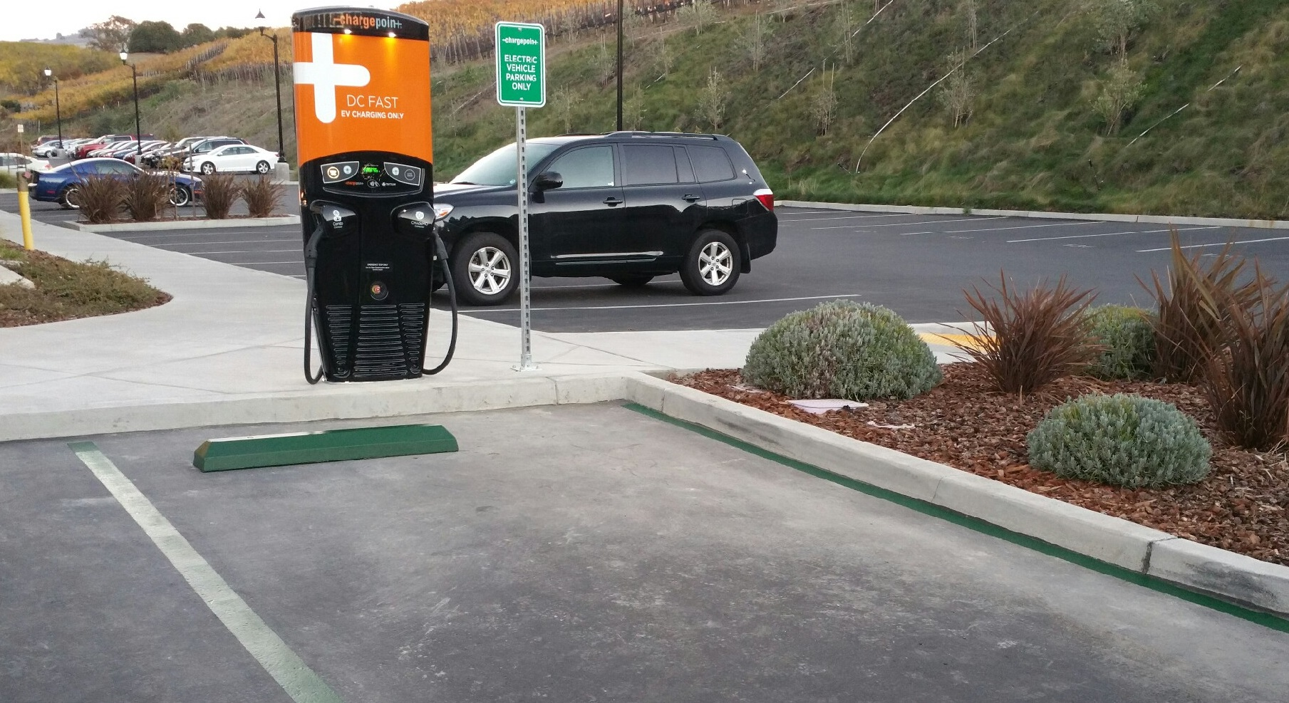 ChargePoint has built out a national network of public charging stations as well as a mobile app.
