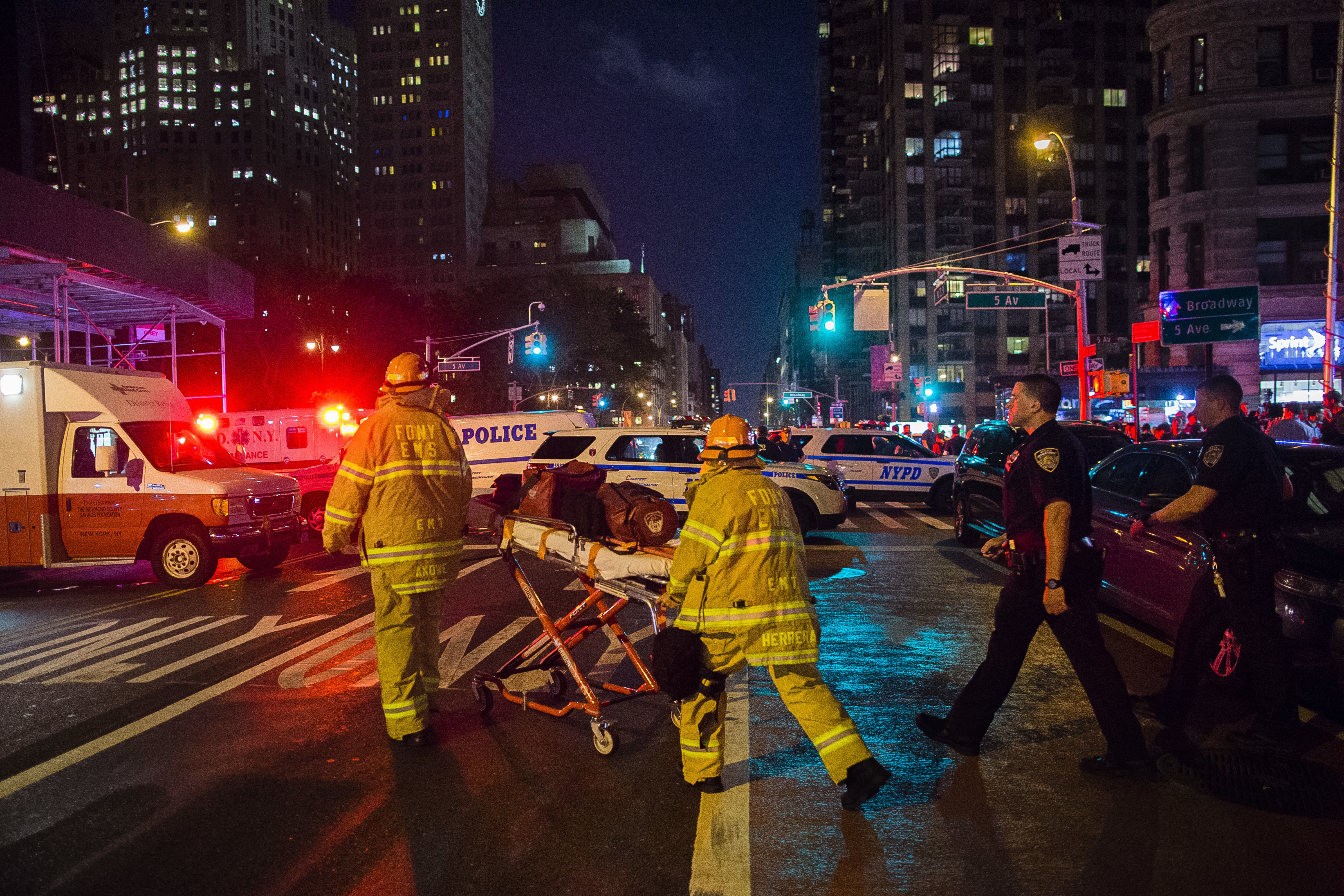 APTOPIX Manhattan Explosion