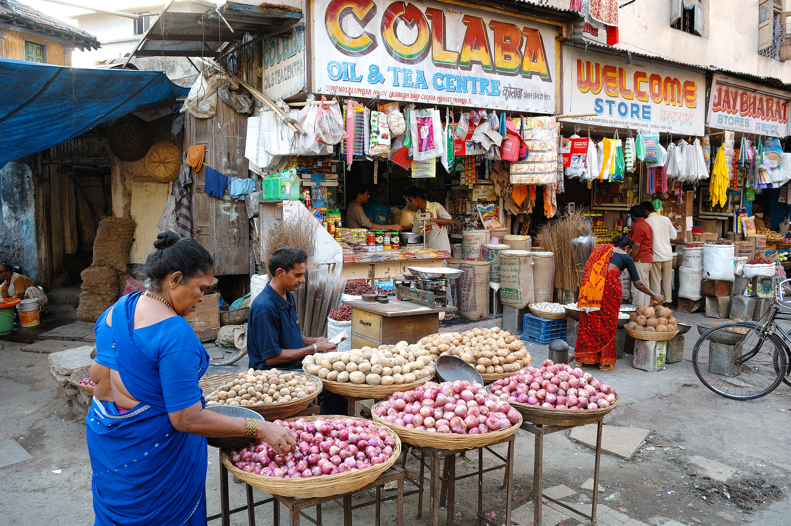 Shop for trinkets and treasures in the stalls at the Colaba Causeway.