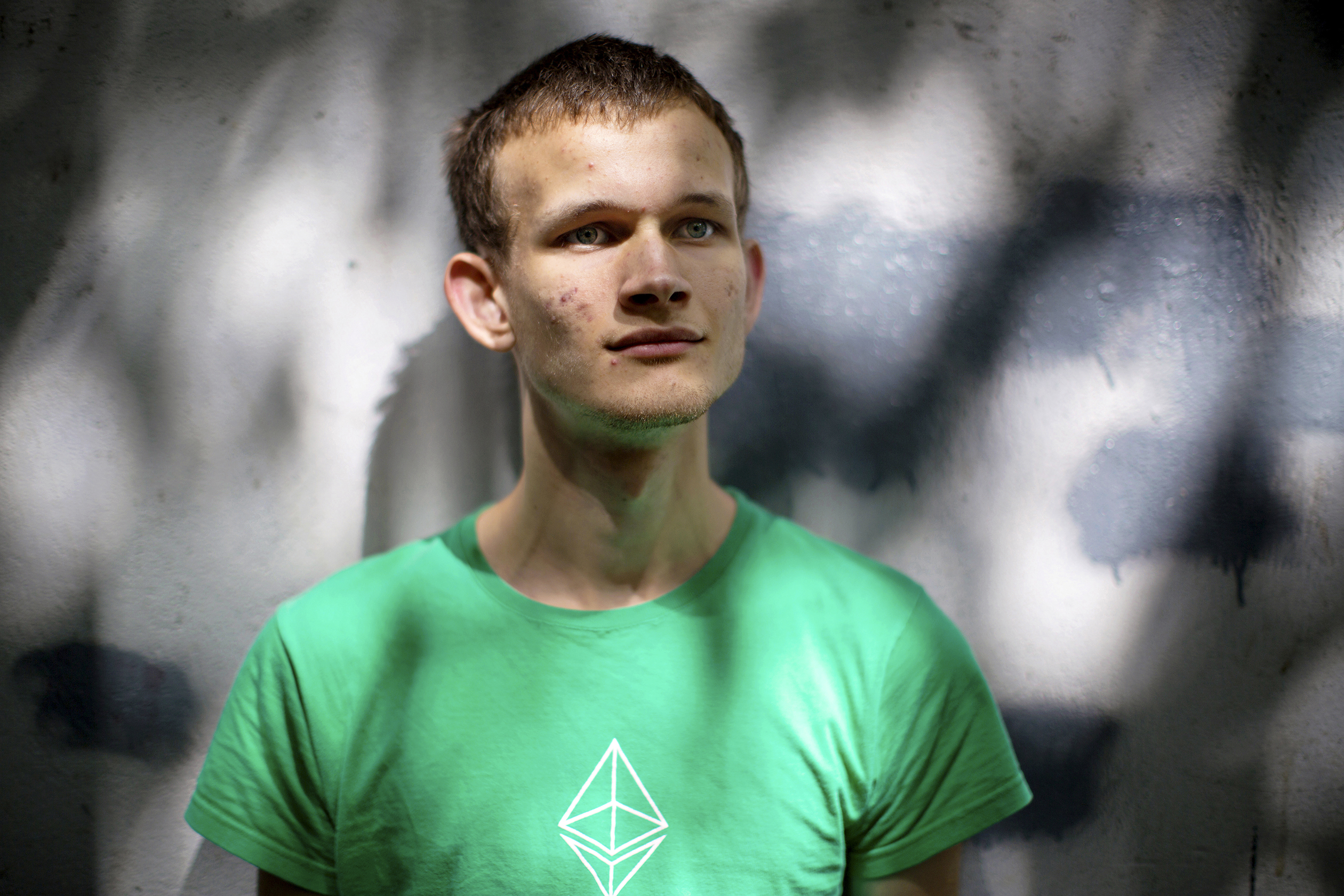Vitalik Buterin in a Shanghai park days before he was to host Devcon Two, the annual Ethereum conference.