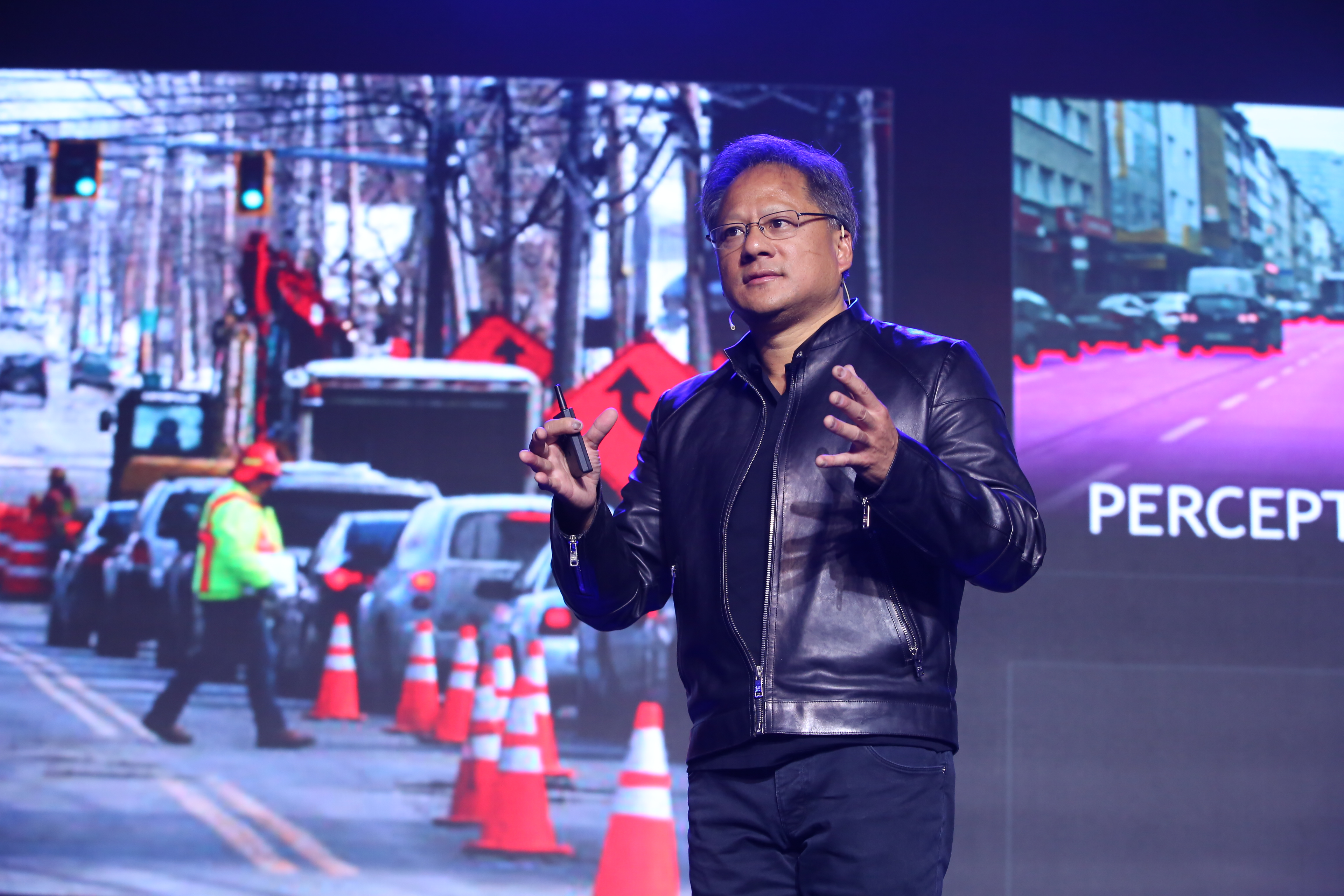 Nvidia CEO Jen-Hsun Huang announced a partnership with Baidu to develop an end-to-end computing platform for self-driving cars.